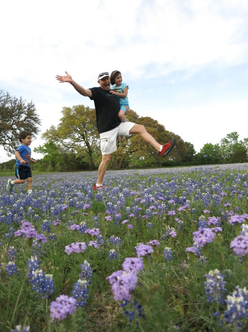 Bluebonnet Jumping