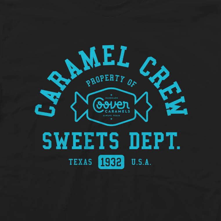 Caramel Crew Black:Teal-50:50 American Apparel.png