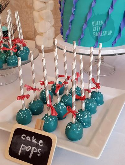 Sea foam cake pops