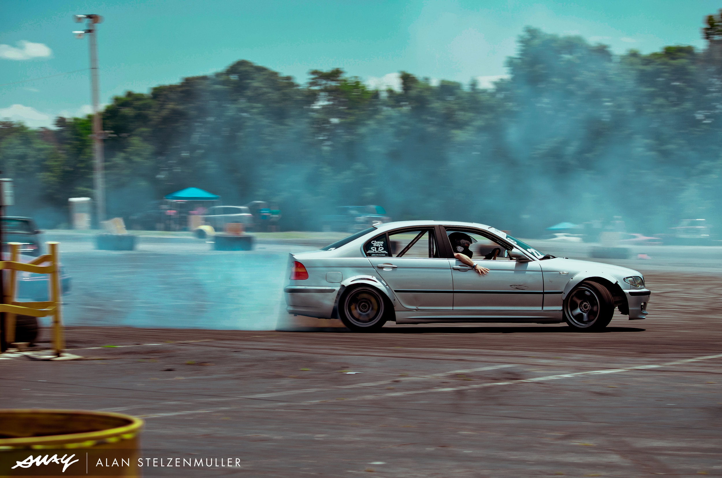 """Coming off his win at Round 1 of Spirit JP drift series and driving at Hyperfest, Alex Gold is presumably feeling pretty good, packing a newly added Vortech supercharger under the hood. His latest IG caption reads, """"This supercharger rips!"""""""