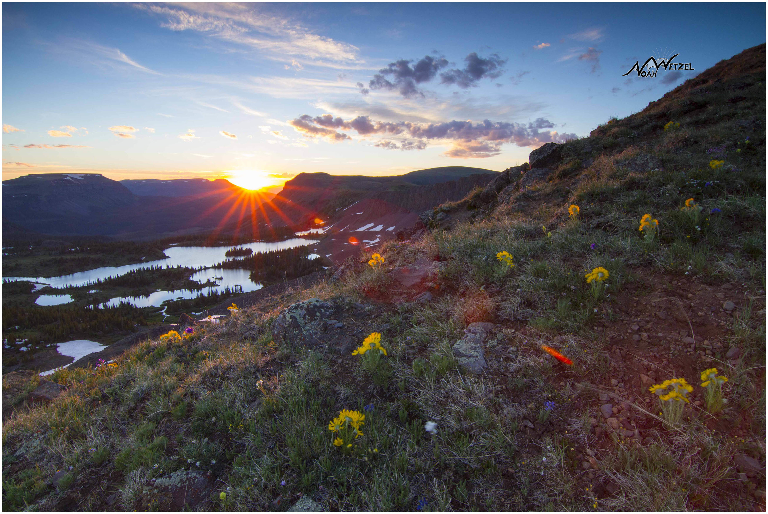 Sunrise above Island Lake. Flat Tops Wilderness, Colorado
