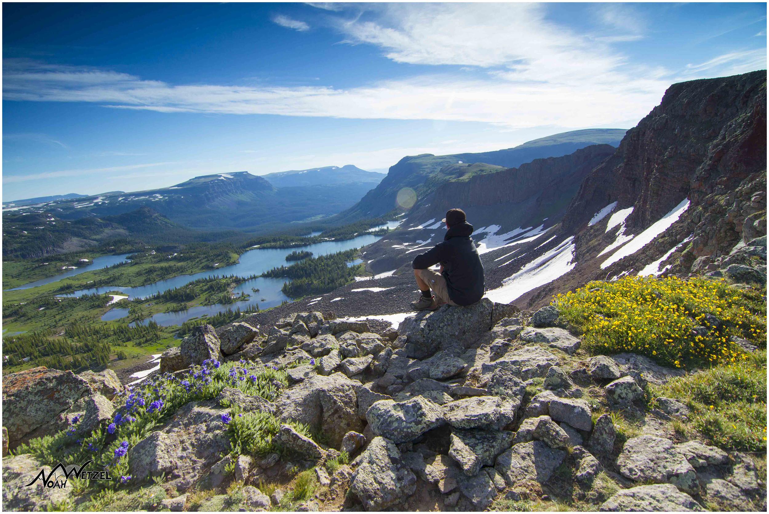 Overlooking Island Lake. Flat Tops Wilderness, Colorado