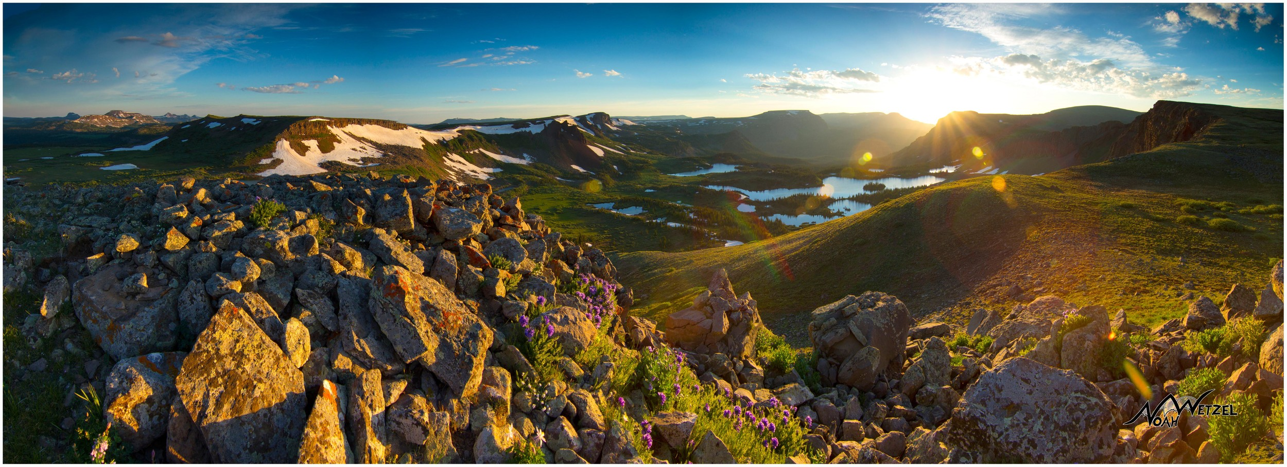 Sunrise above Island Lake in the Flat Tops Wilderness, CO