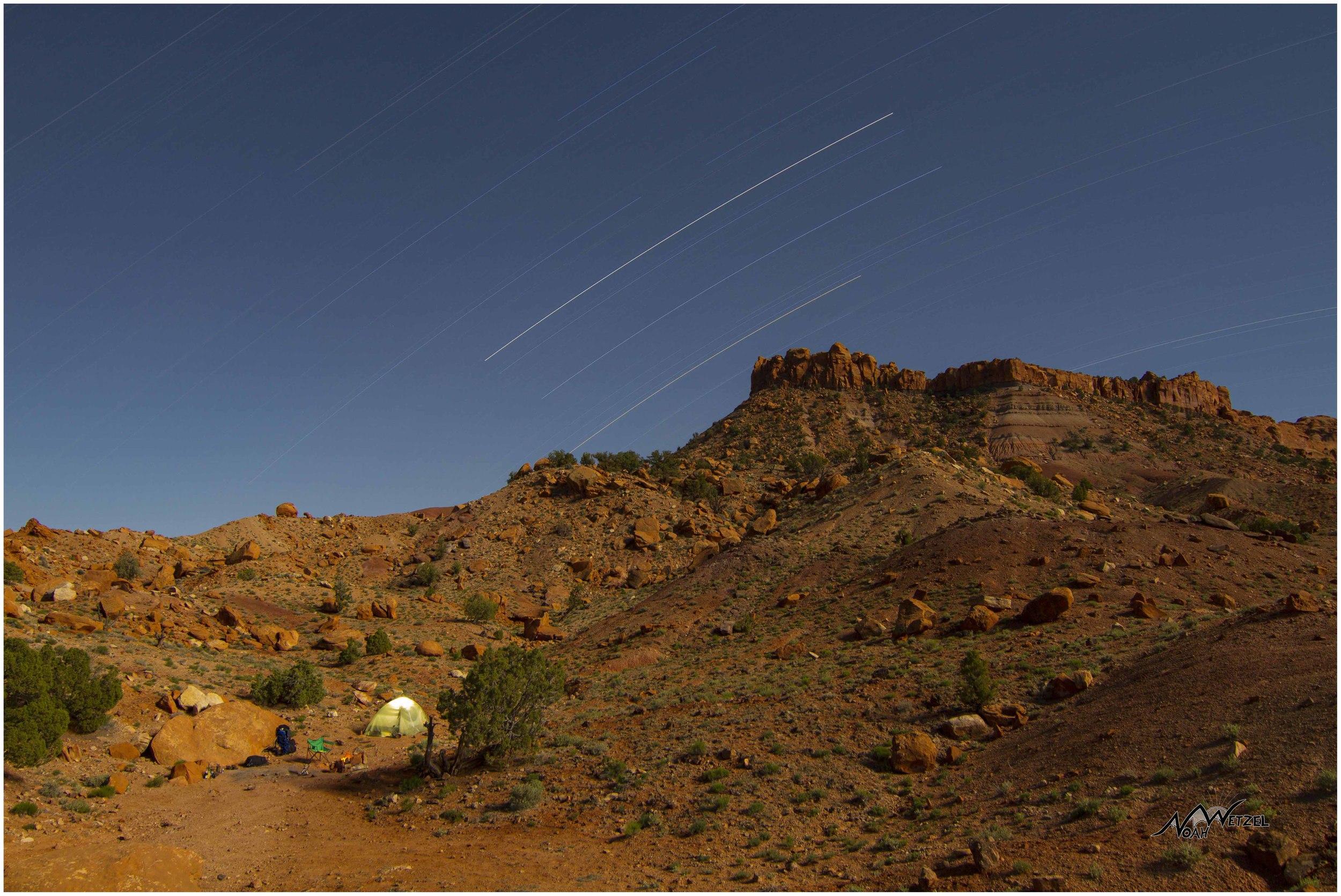 Our campsite off Wolverine Rd. Escalante. Utah