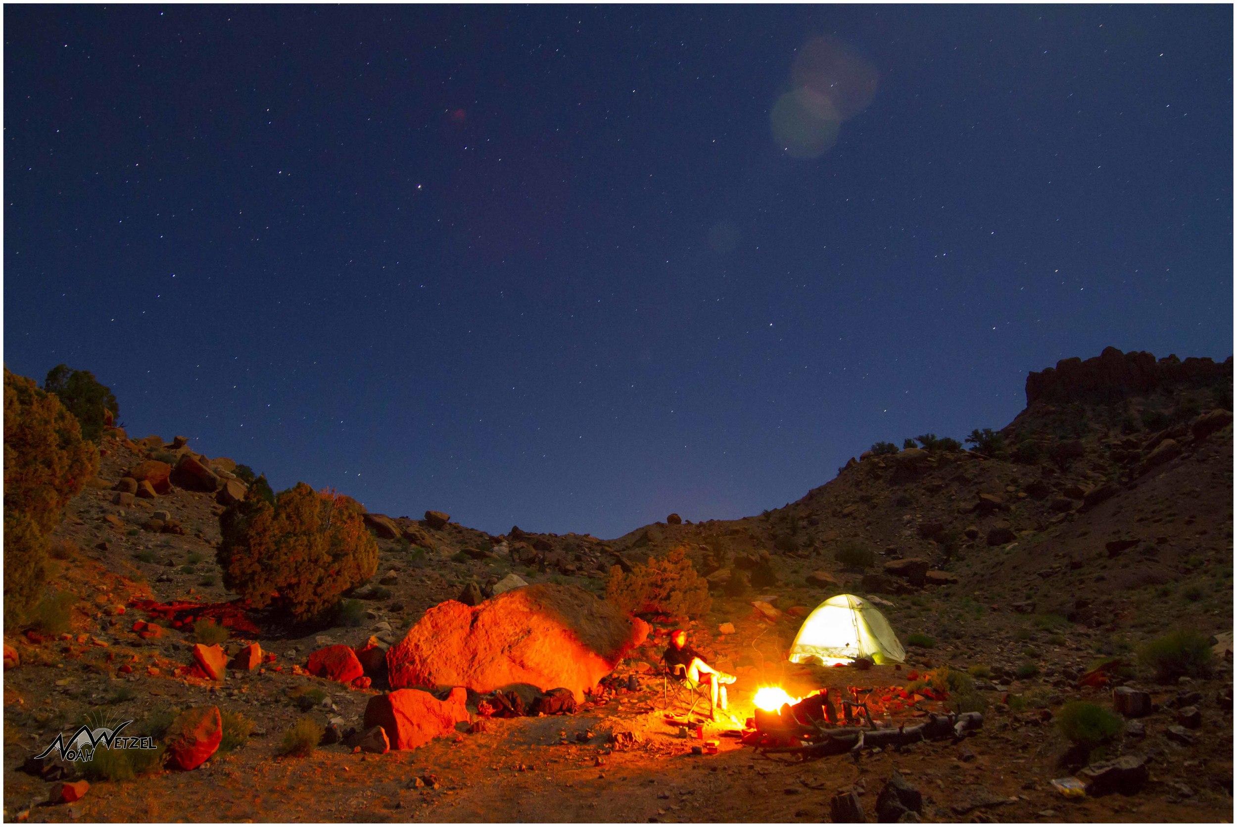 Our campsite off Wolverine Rd. Escalante, Utah