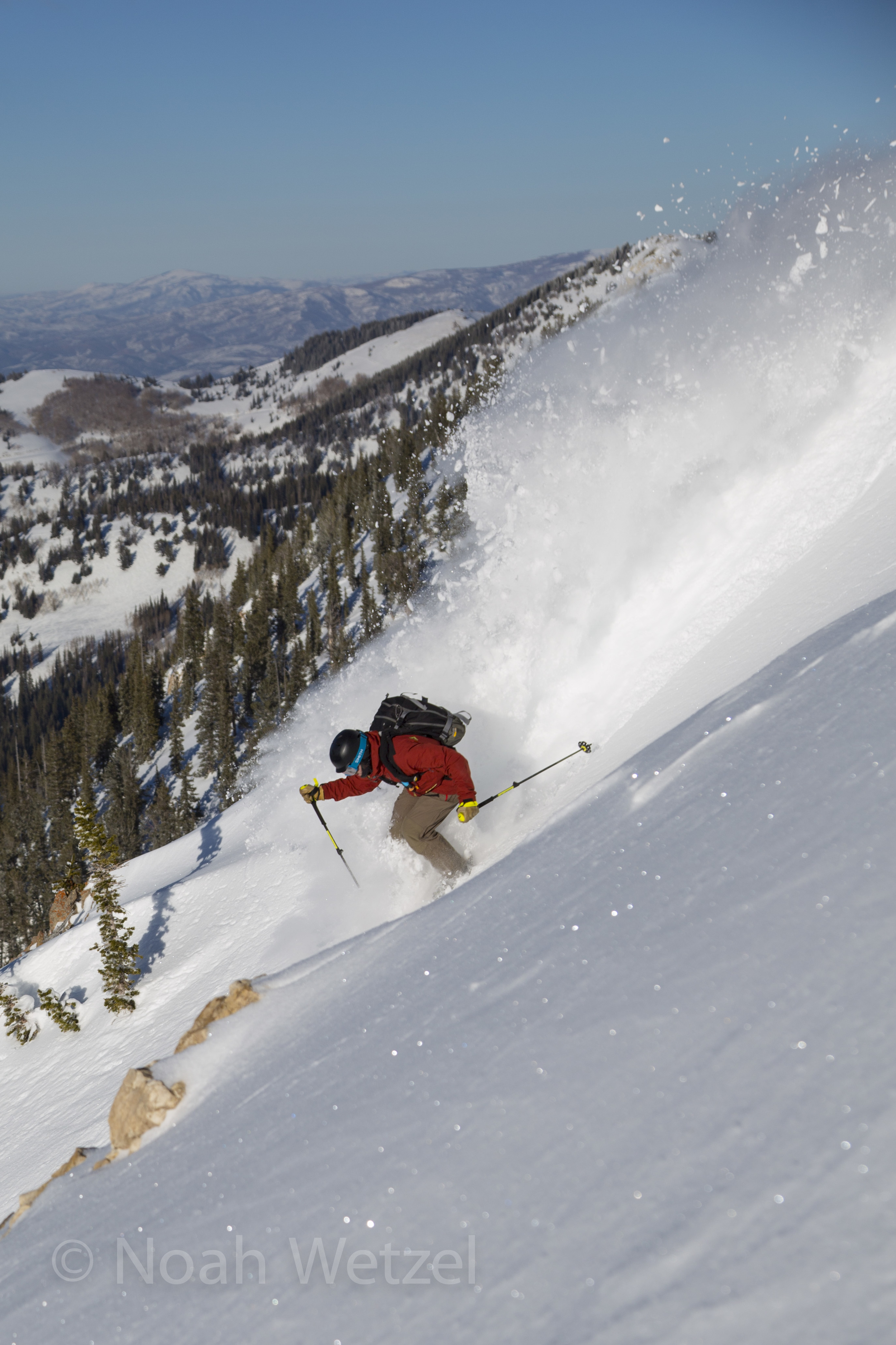 Chris Brule skiing the Brighton Resort backcountry, Utah. Day 1.