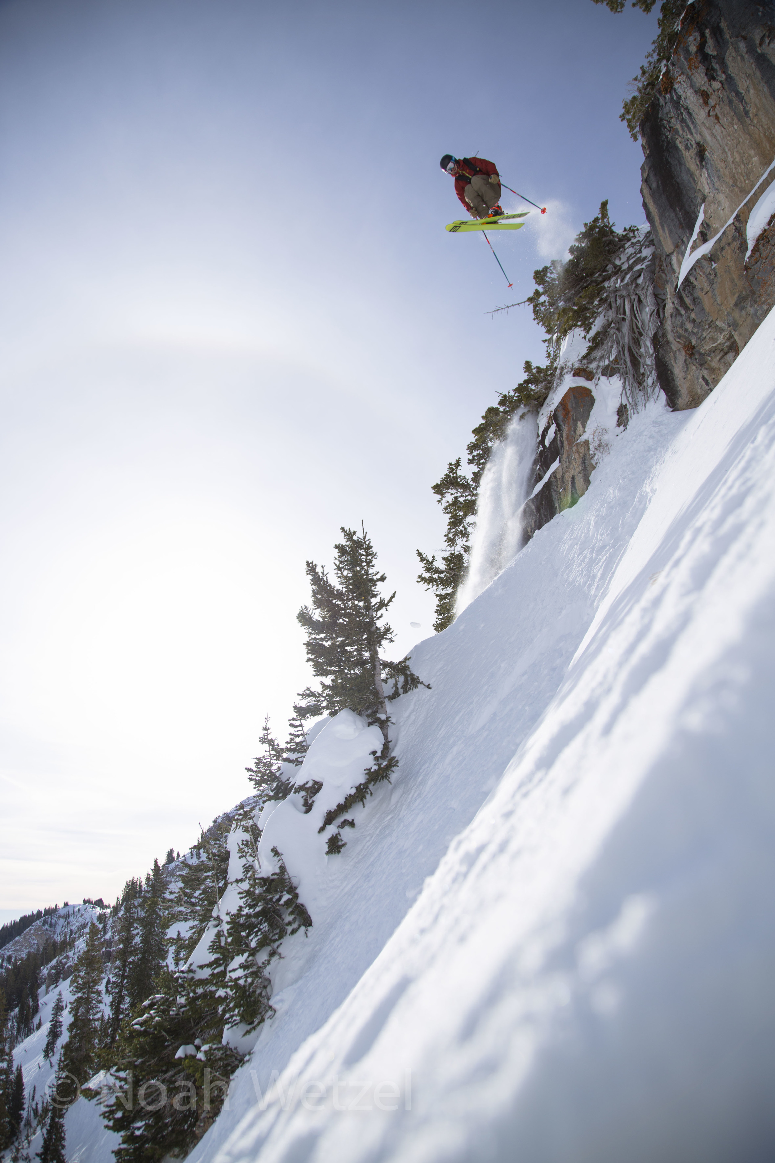 Chris Brule airing it out at Snowbird Resort, Utah.