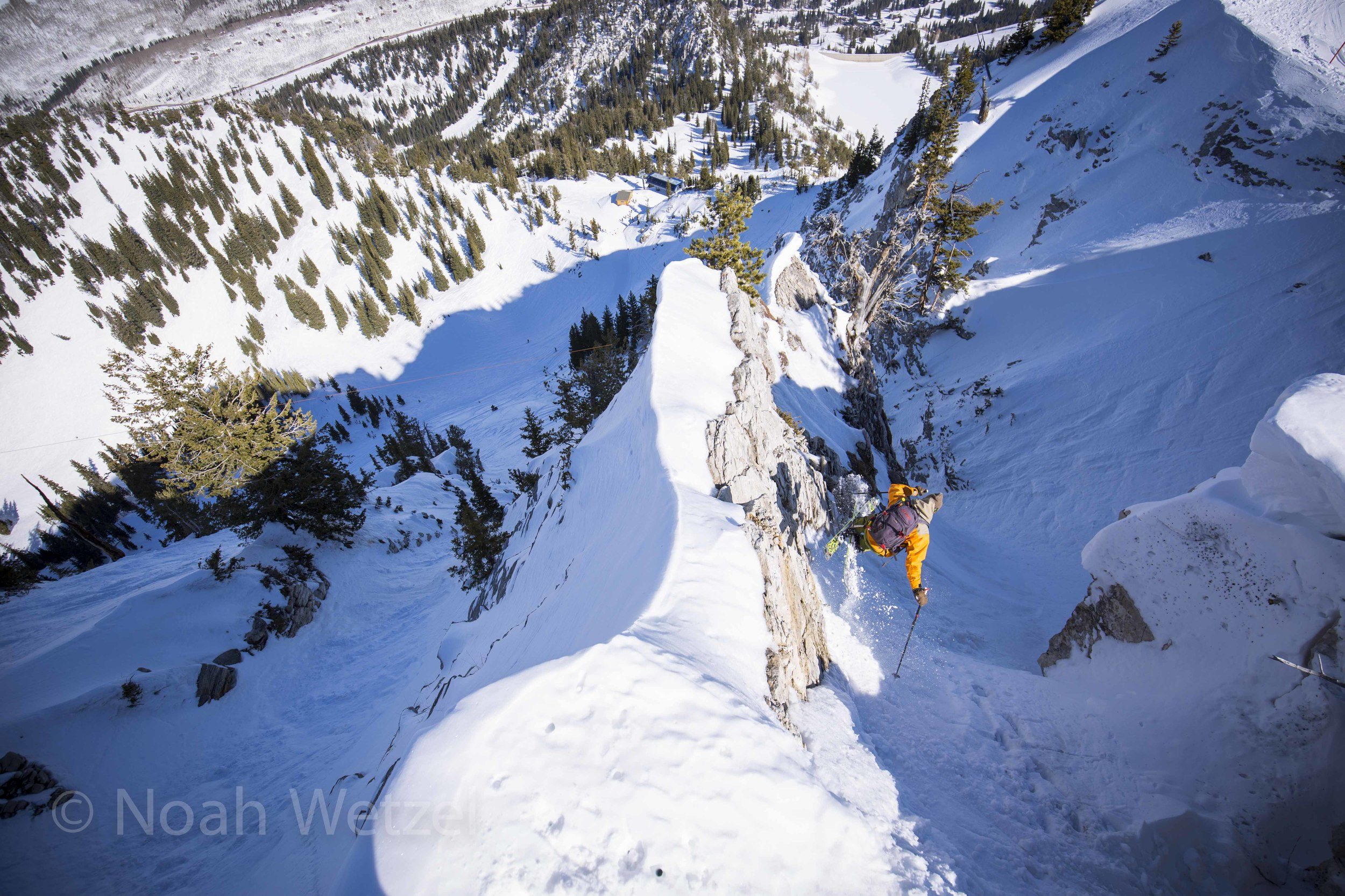 Willie Nelson jump turning his way down Fantasy Ridge at Solitude Mountain Resort, Utah. Day 3.