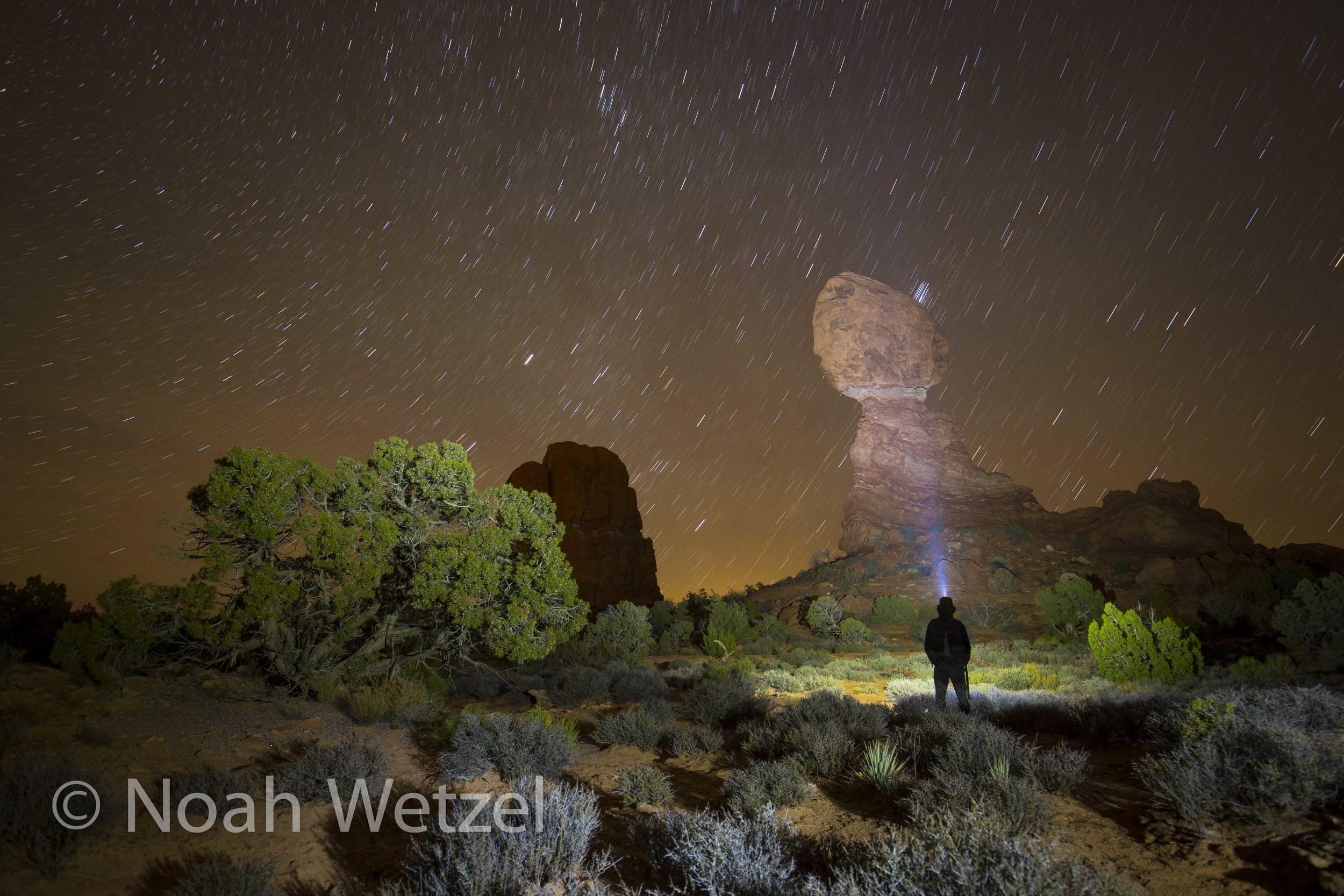 Self Portrait, Balanced Rock, Arches National Park, Moab, Utah