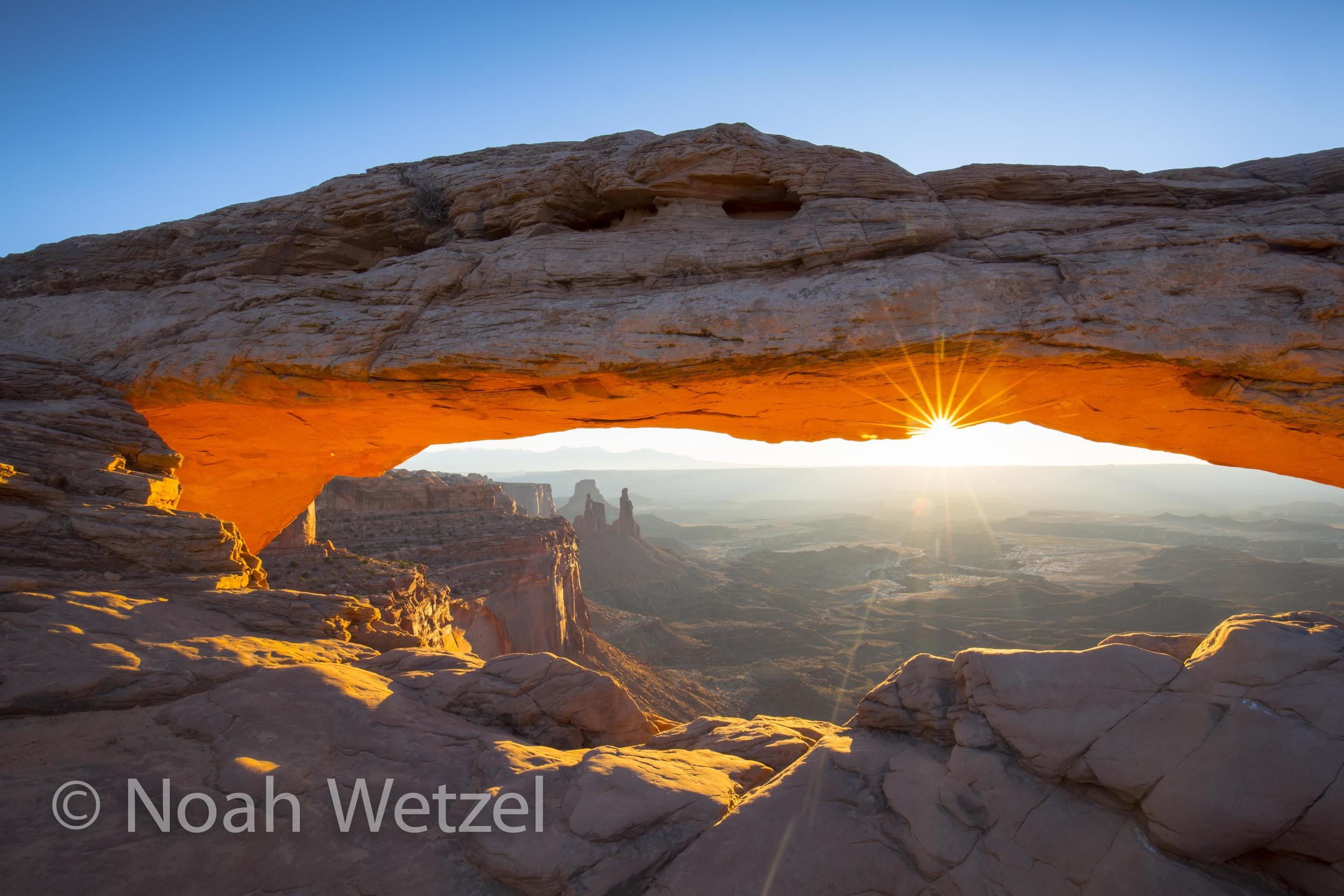Sunrise at Mesa Arch. Canyonlands National Park, Moab, Utah