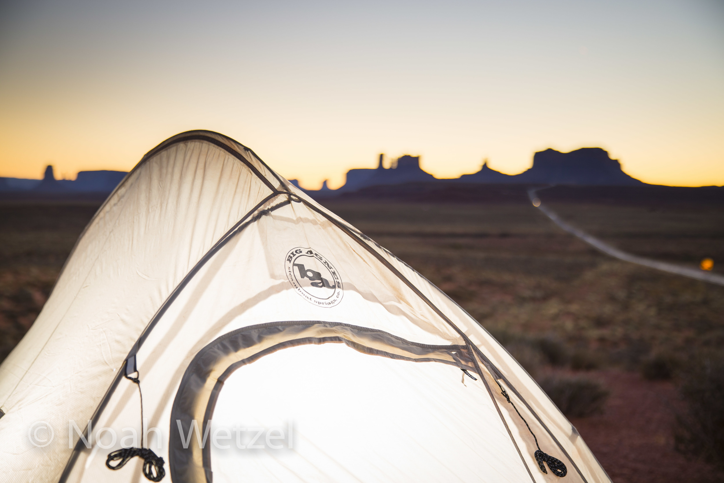 Big Agnes work in Monument Valley, Arizona