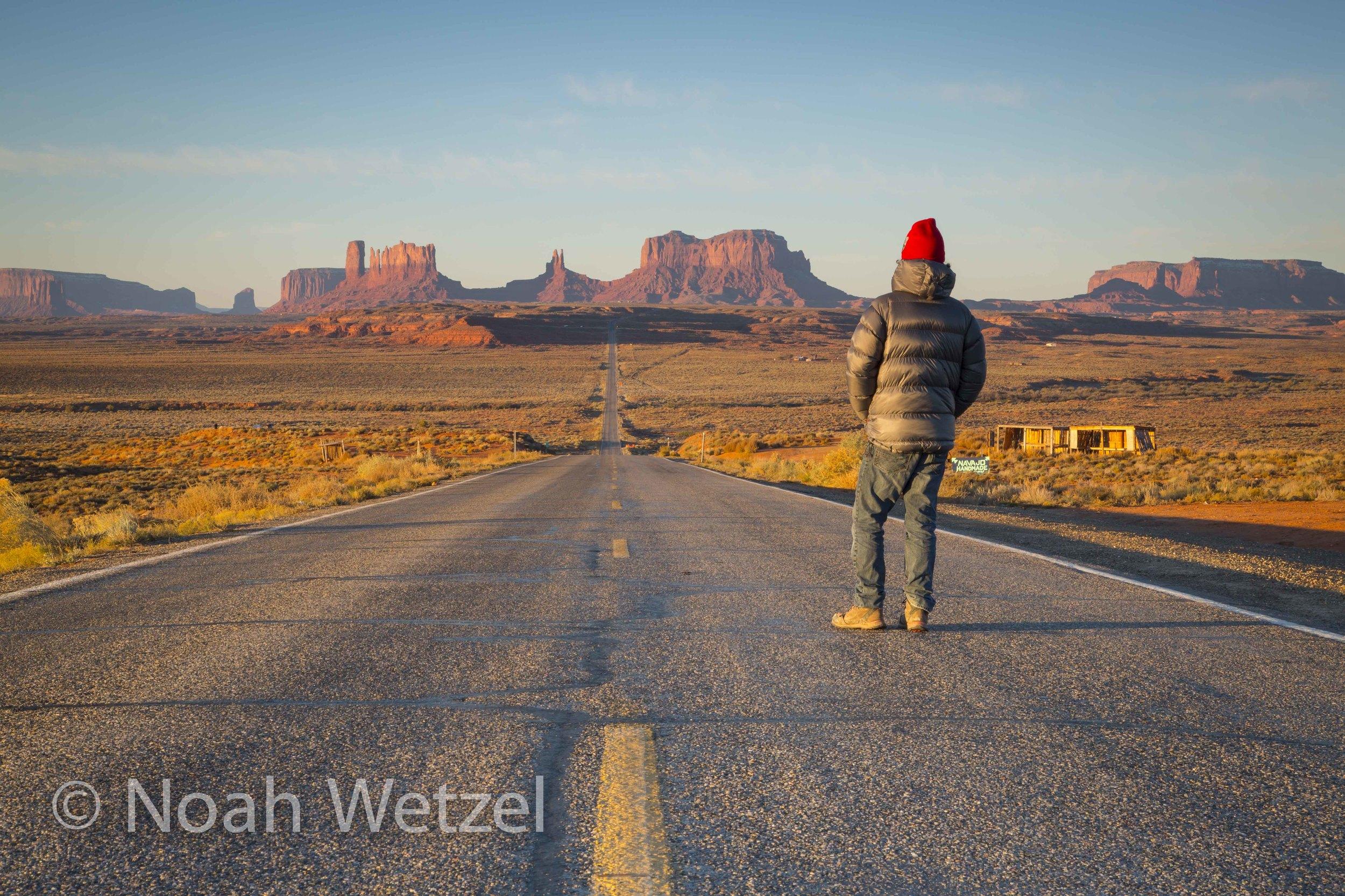Self Portrait. Monument Valley, Arizona