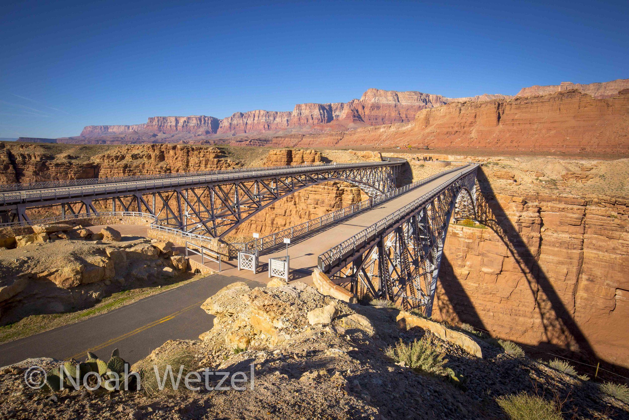 Marble Canyon and the Twin Navajo Bridges off Hwy 89A. Arizona
