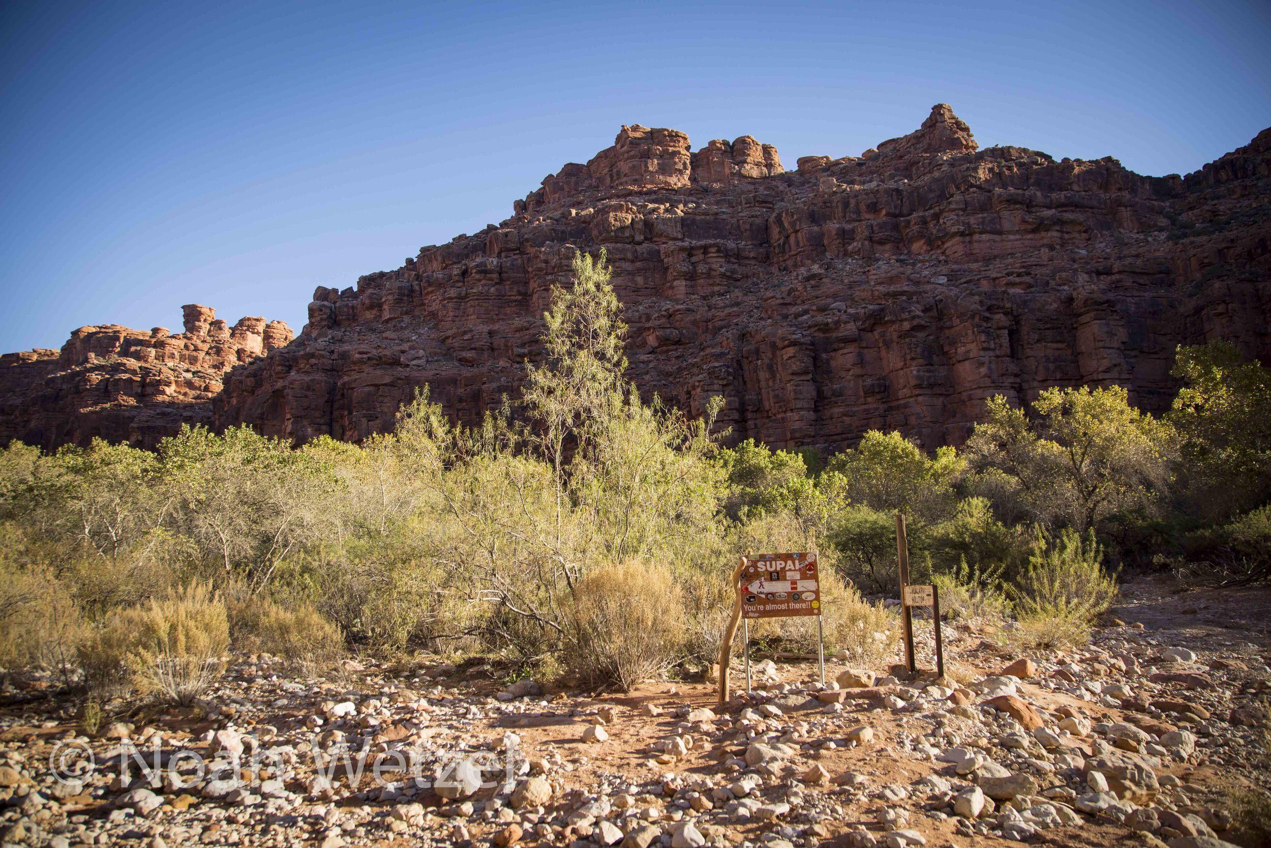 Almost there. Supai, Arizona