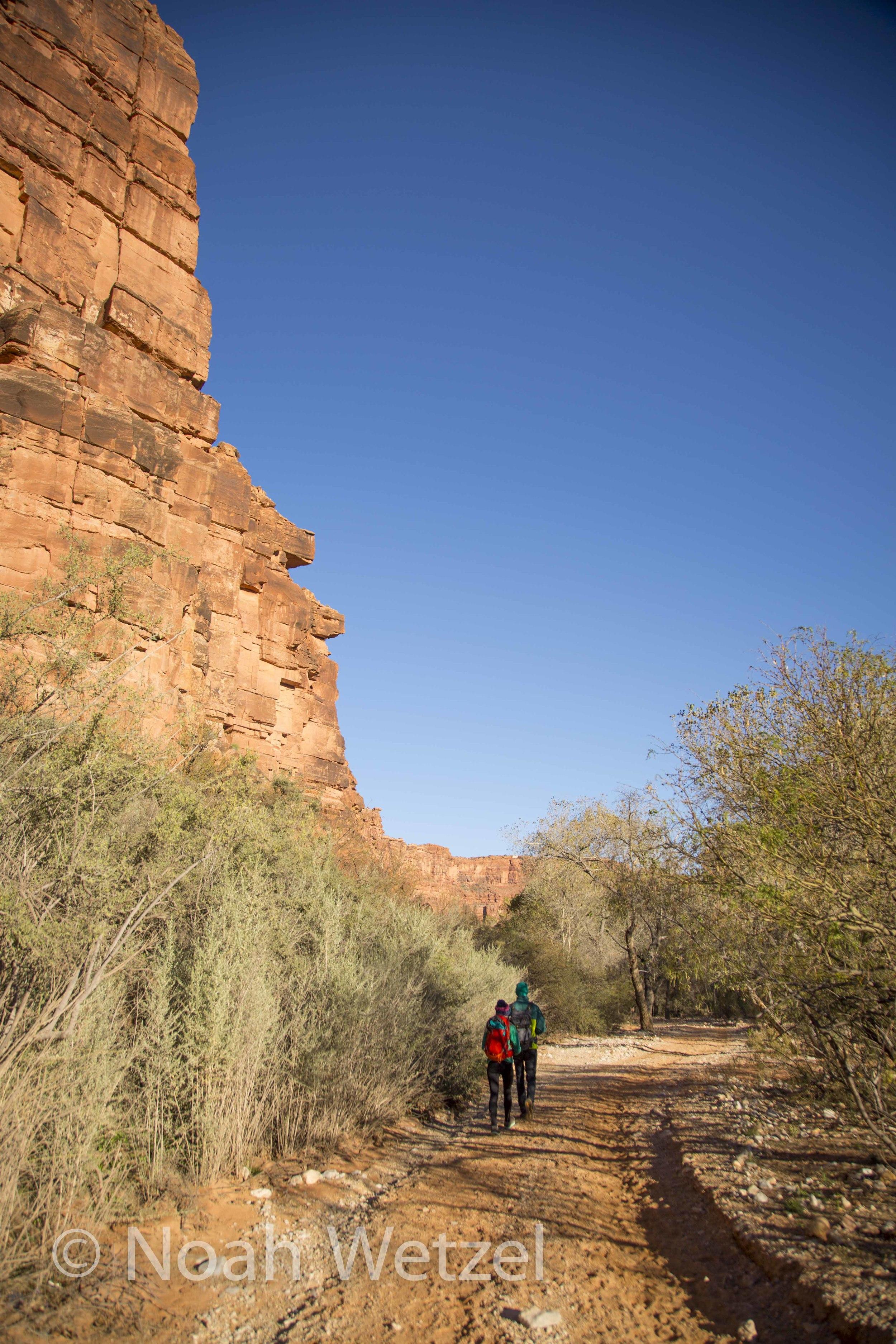 Jerome and Rachel nearing Supai, Arizona