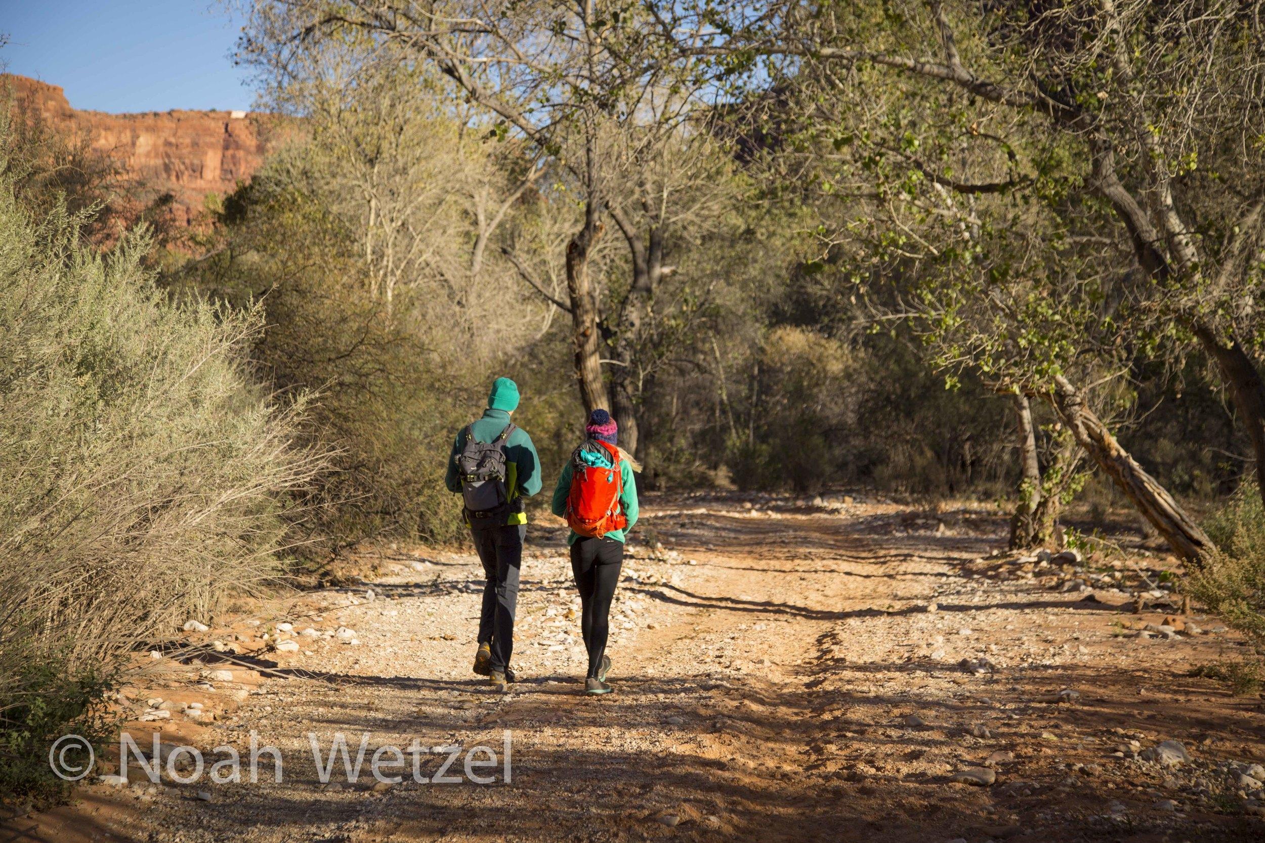 Jerome and Rachel approaching Supai, Arizona