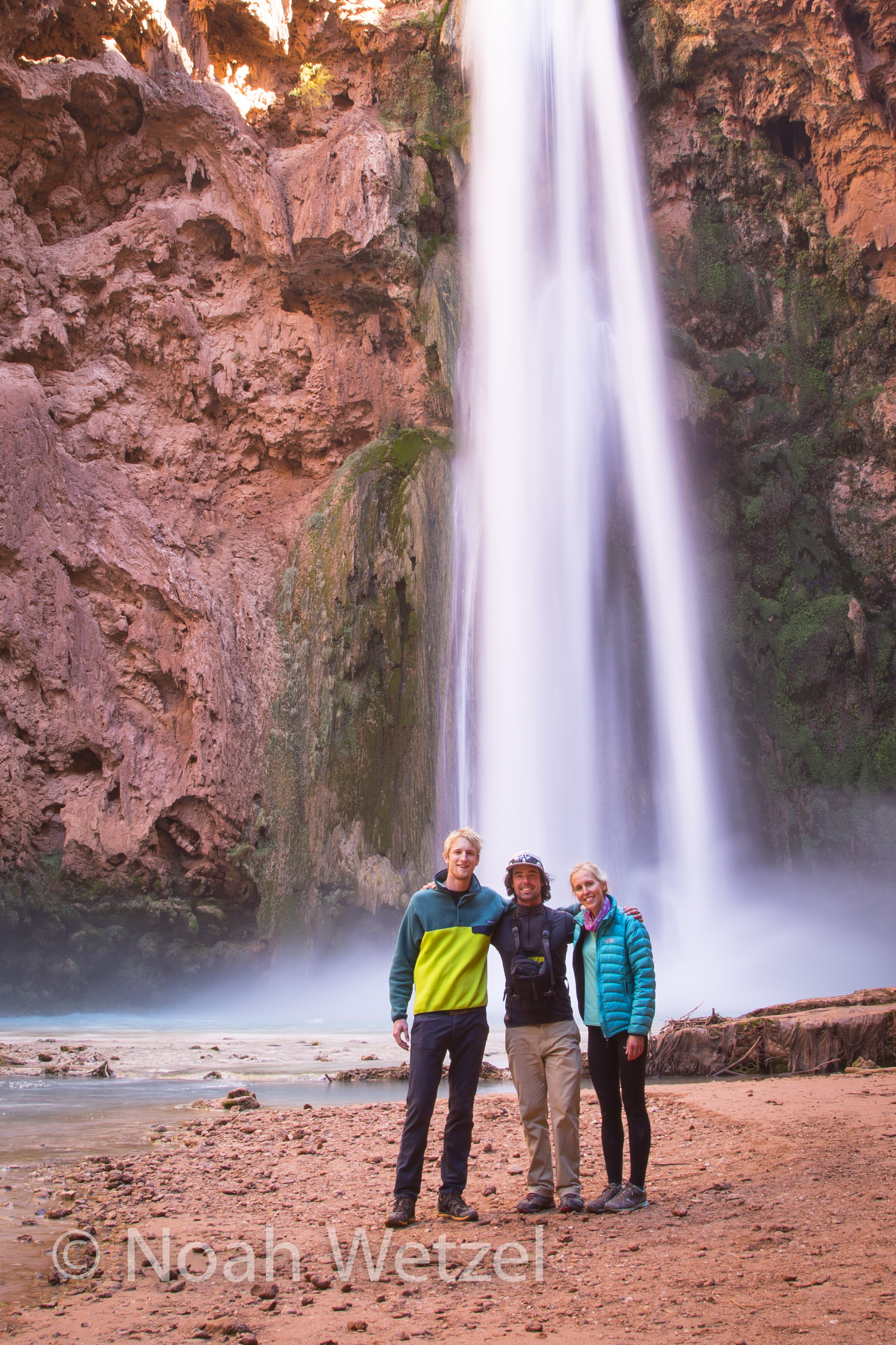 My new friends, Jerome and Rachel. Mooney Falls. Supai, Arizona