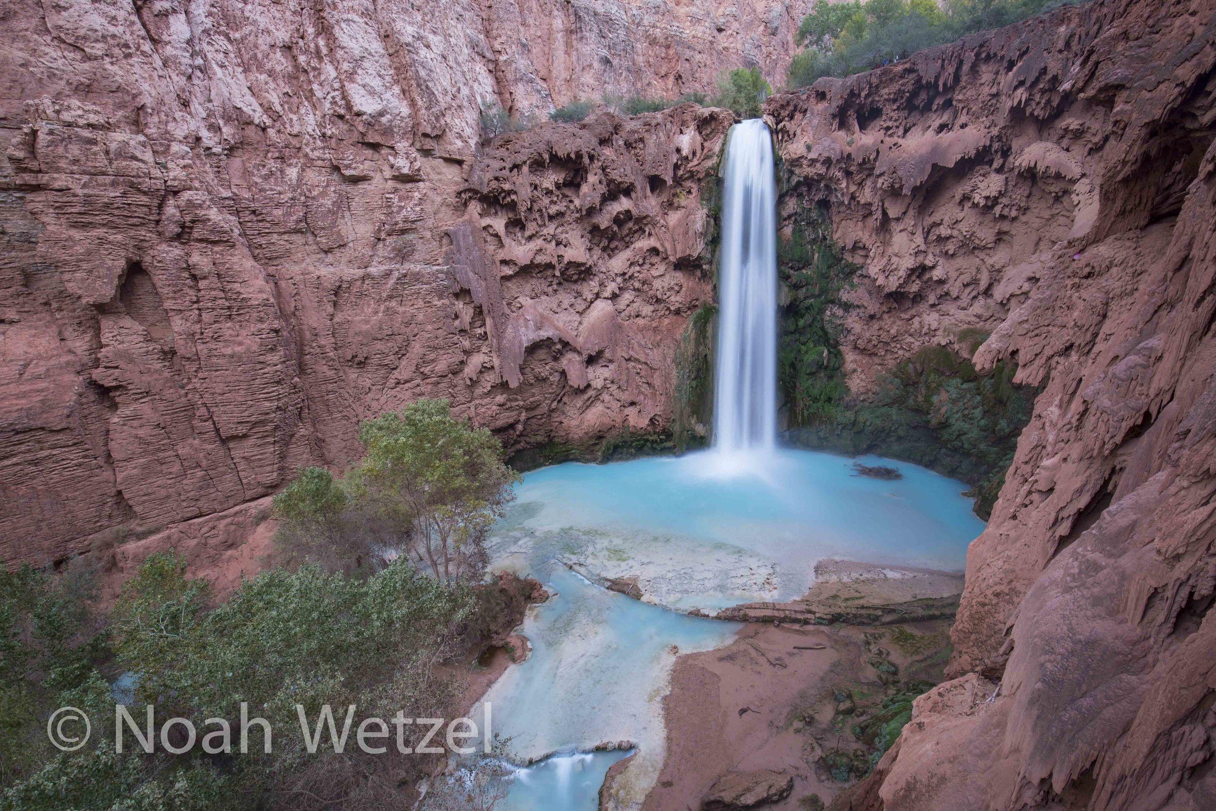 120ft Mooney Falls. Supai, Arizona
