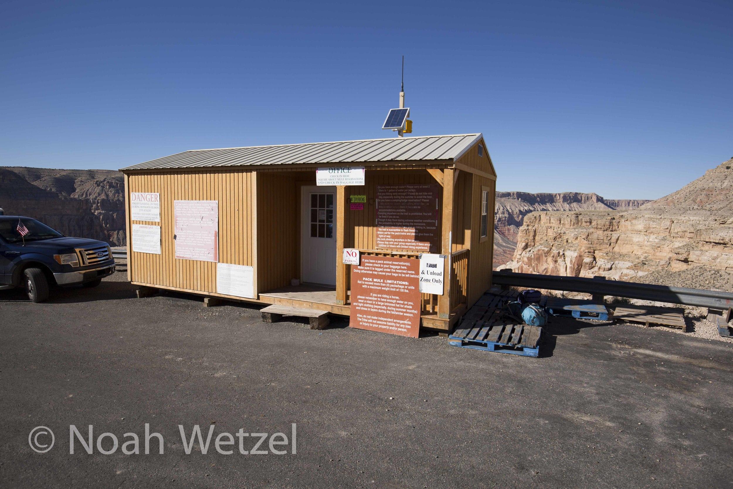 The shack at Haulupai Hilltop. Supai, Arizona