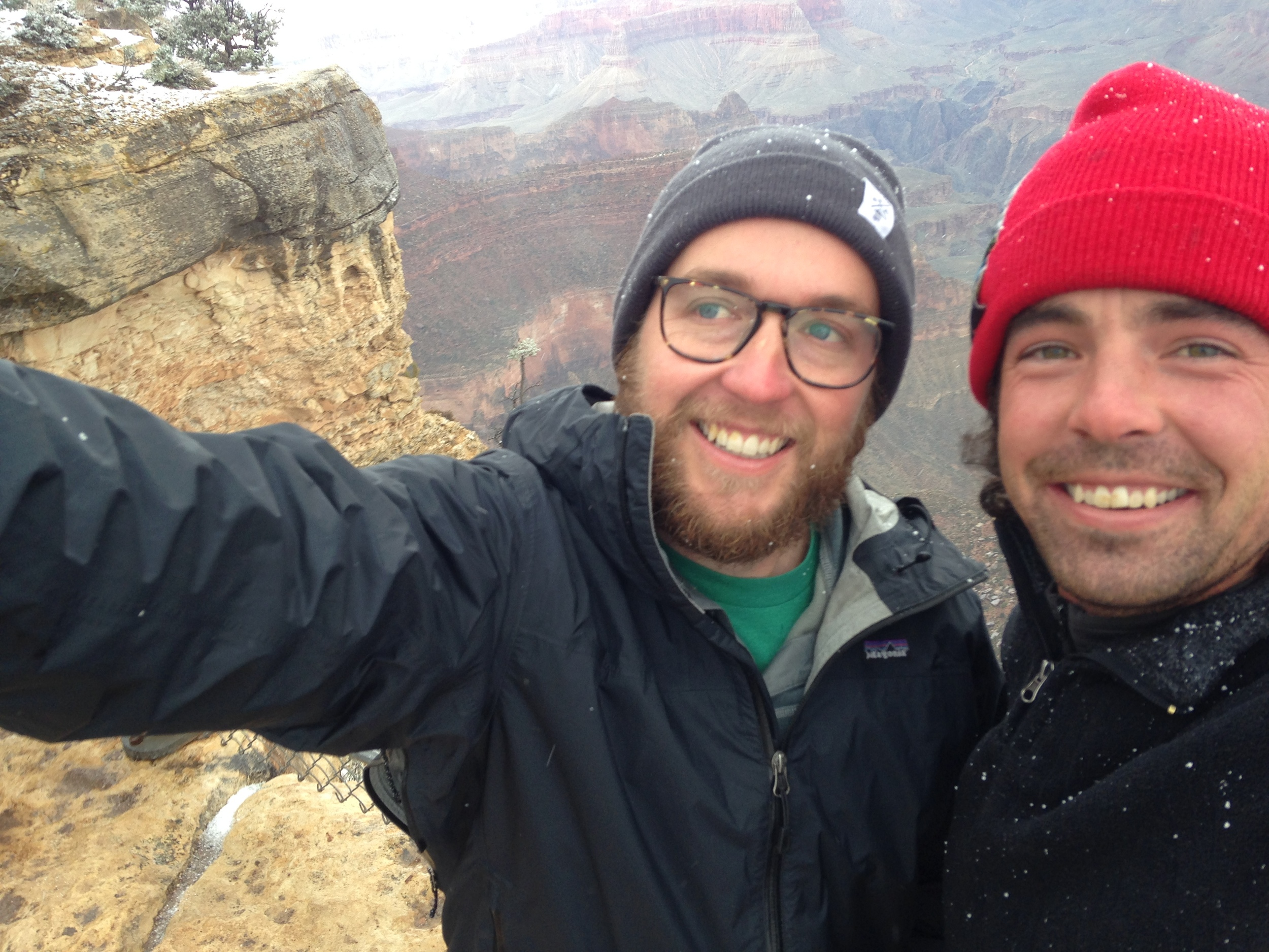 Ben Hitch and myself getting snowed on at the Grand Canyon. Arizona
