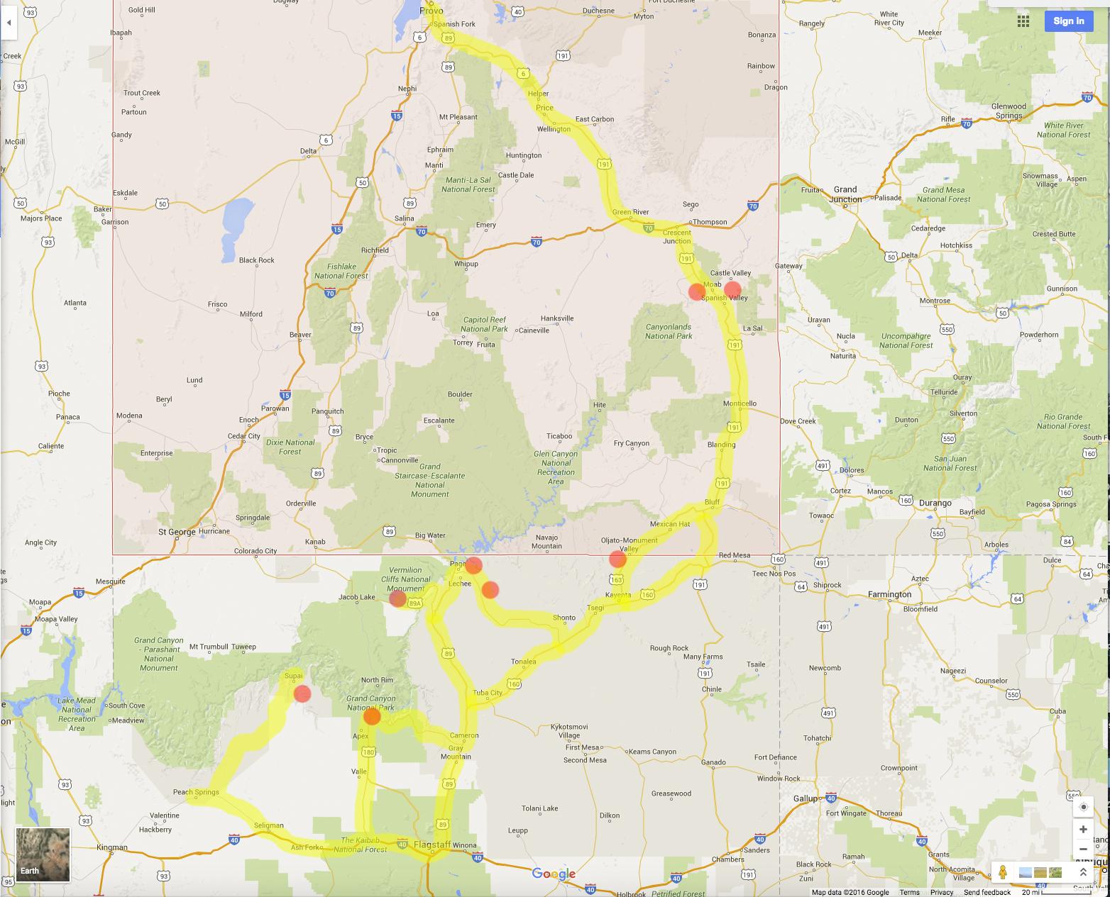 Tour de Desert Map