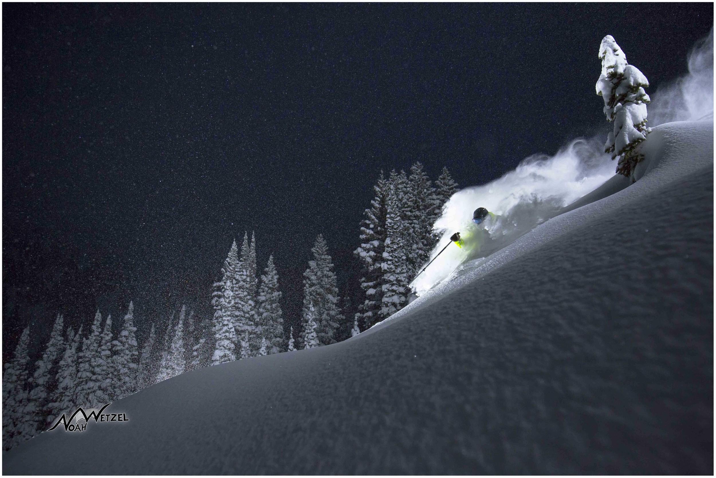 Willie Nelson rips a few turns in a winter wonderland in Alta, Utah.