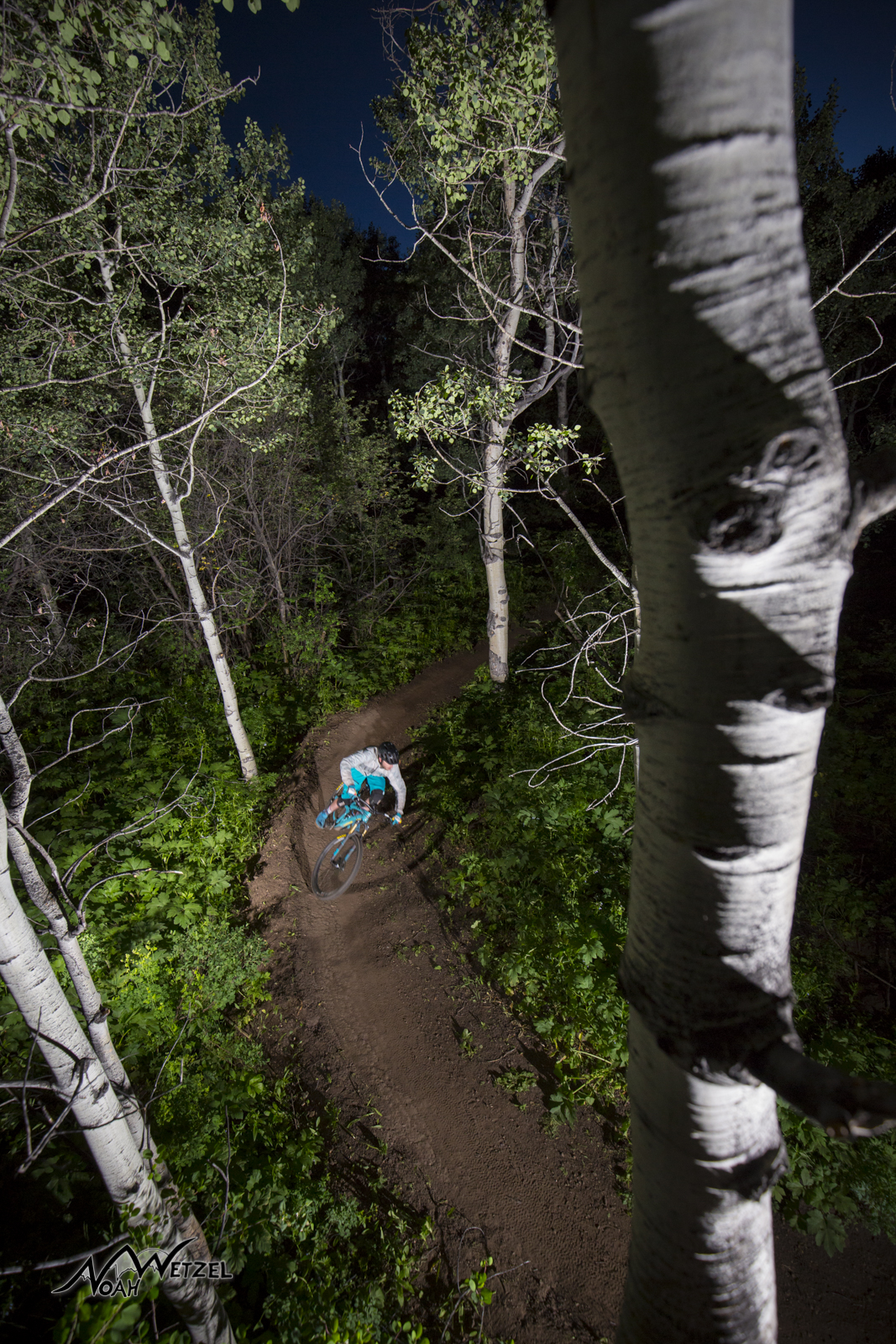 Justin Reiter riding NPR on Emerald Mountain. Steamboat Springs, Colorado.
