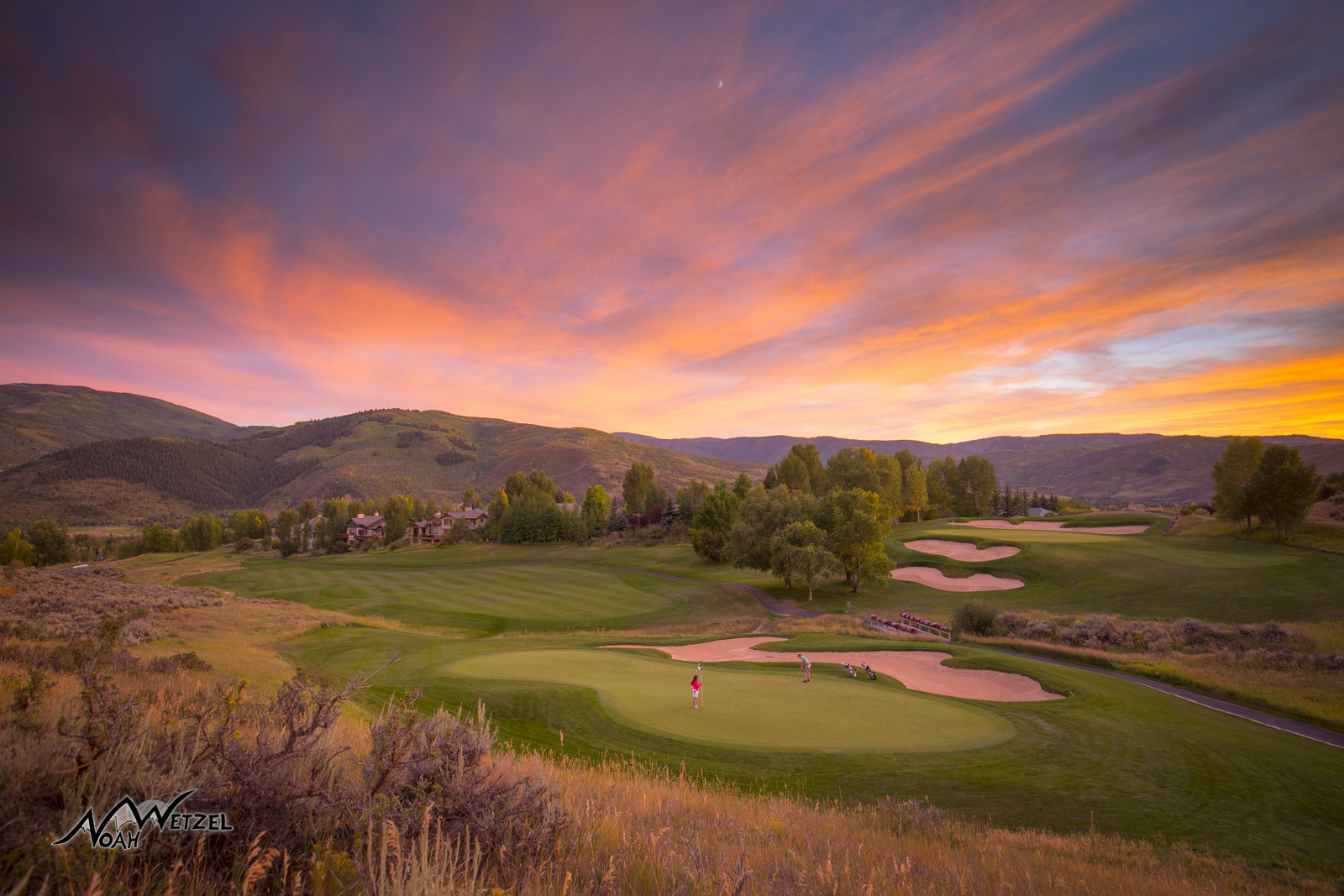 The beautiful 13th hole at the Sonnenalp Club in Vail, Colorado.