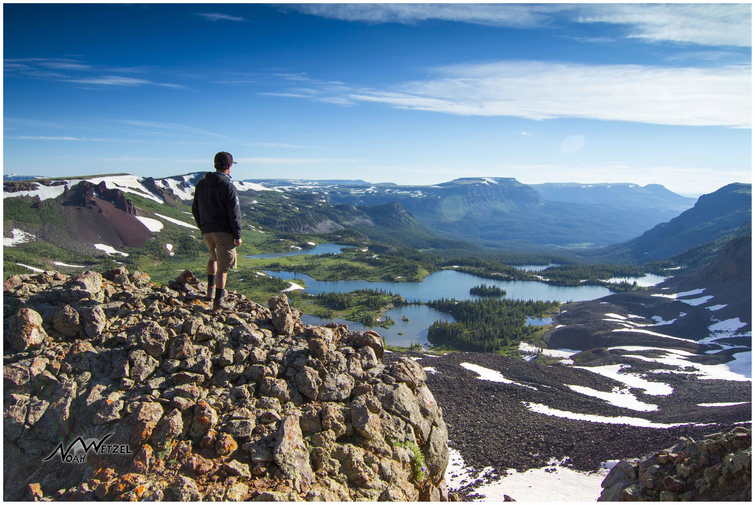 Self Portrait overlooking Island Lake in the Flat Tops Wilderness. Colorado