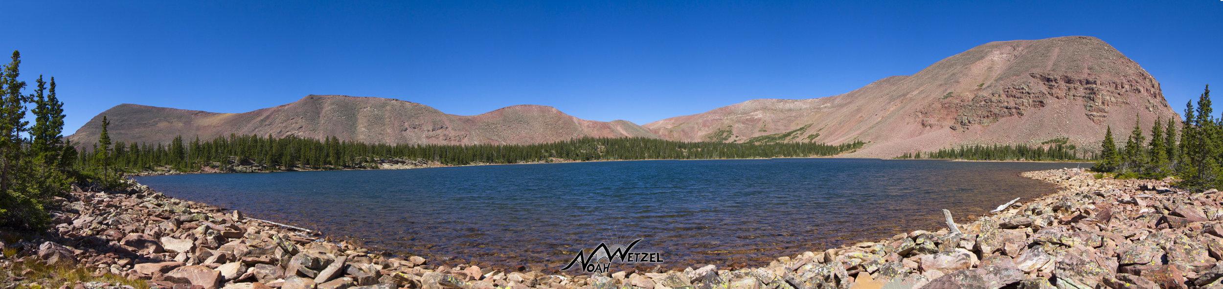 Farmers Lake. Just before reaching Timothy Lakes in the High Uintas Wilderness. Utah.