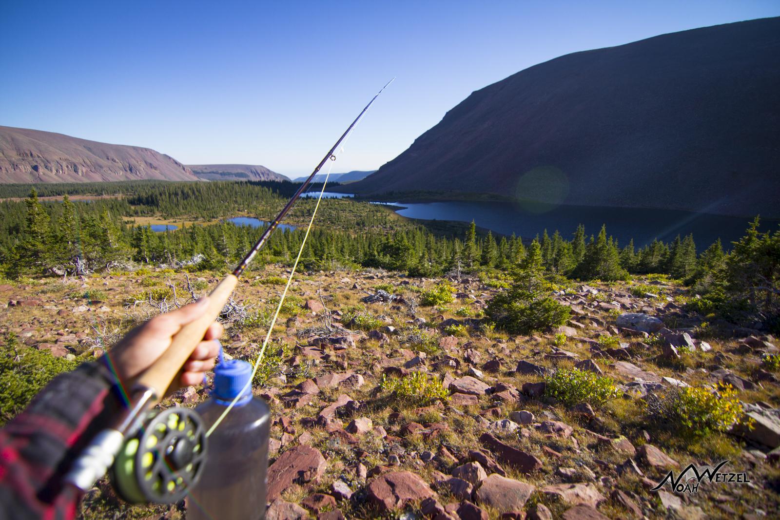 Overlooking West Timothy Lake. High Uintas Wilderness. Utah