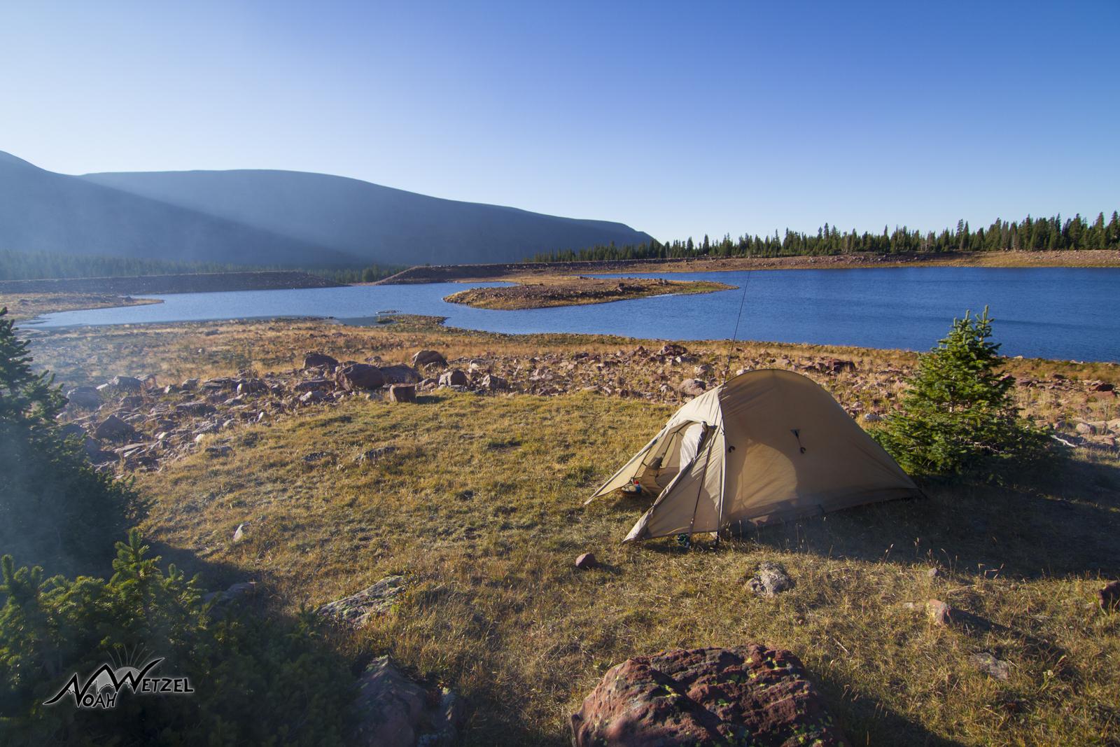 Morning vibes at East Timothy Lake. High Uintas Wilderness. Utah