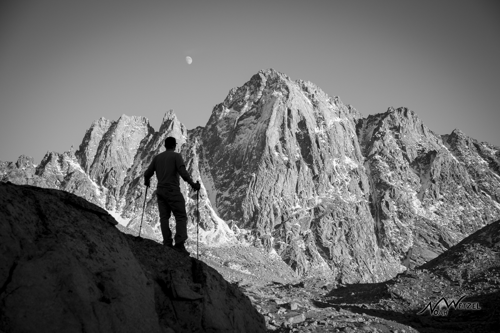Brother Benny overlooking Harrower Peak and Indian Basin on our second day in the Wind Rivers.
