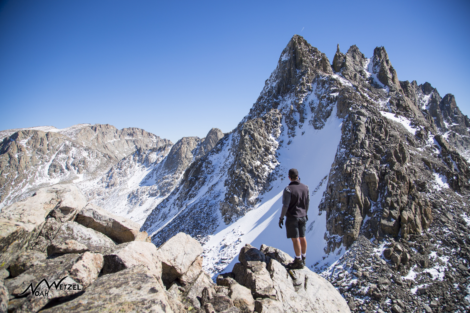 My brother Ben Wetzel soaking in the views at Indian Pass. Wind River Range. Wyoming