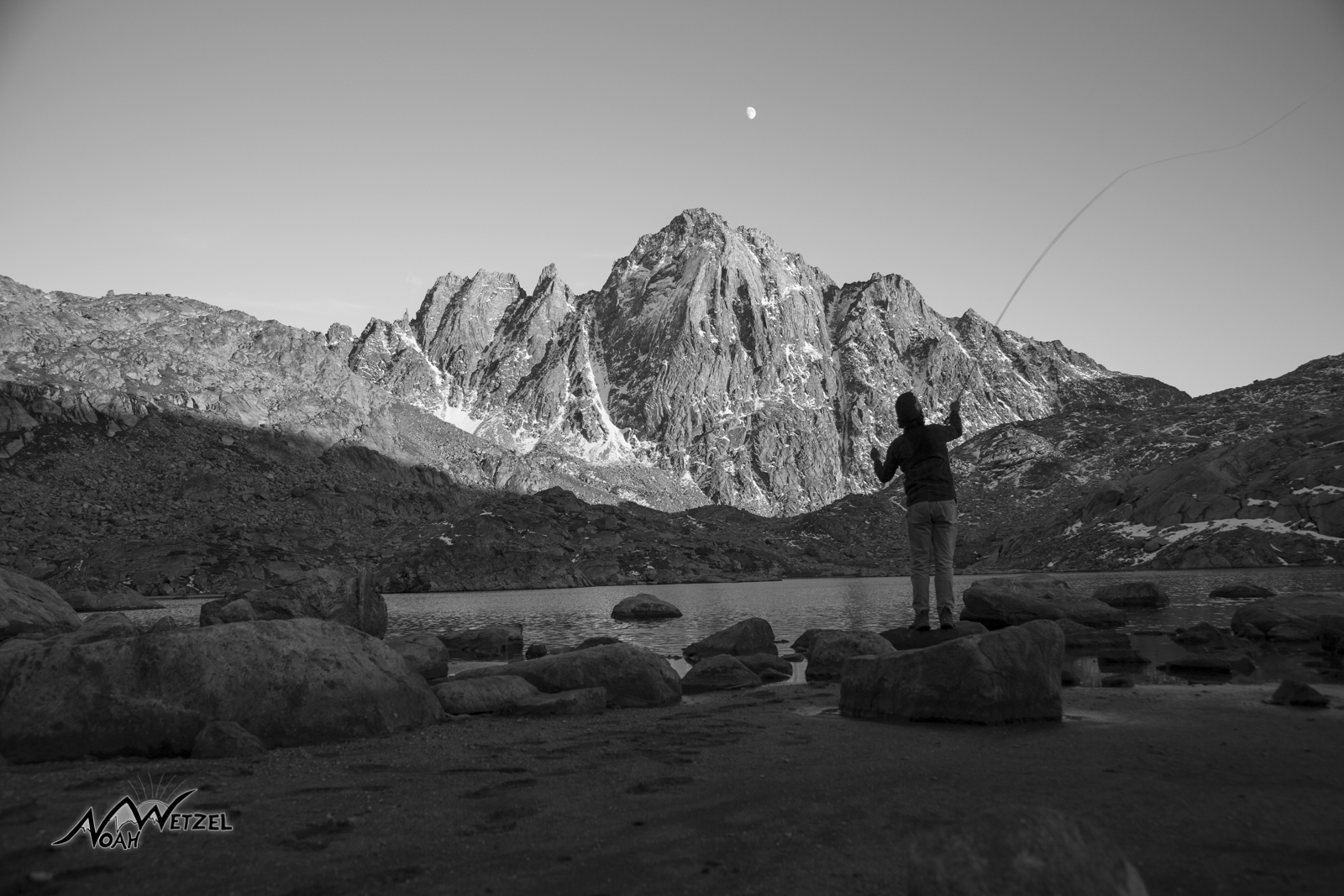 Self Portrait. Fly fishing...hoping for signs of life. Wind River Range. Wyoming