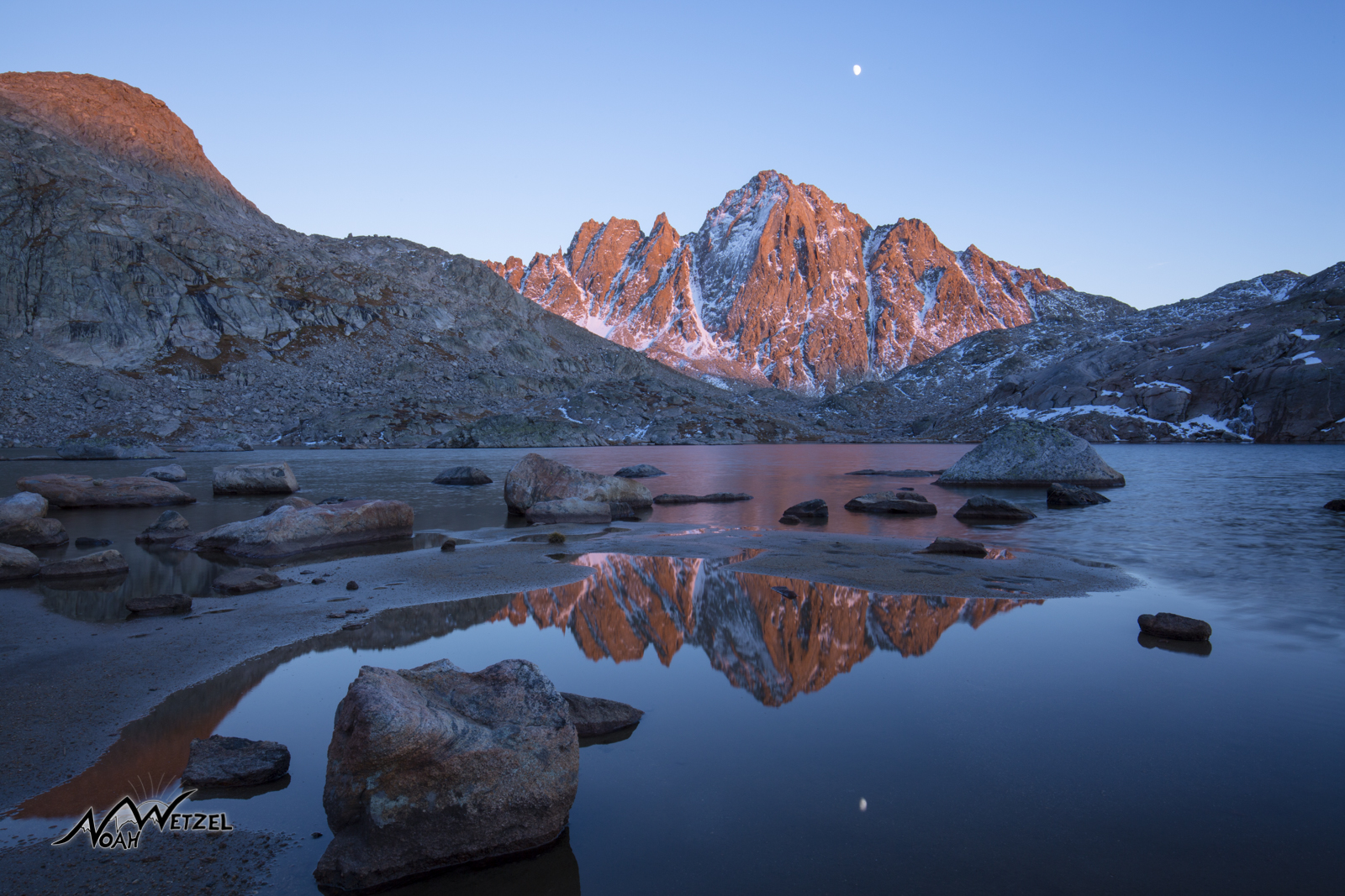 Harrower Peak Reflection at Indian Basin. Wind River Range. Wyoming