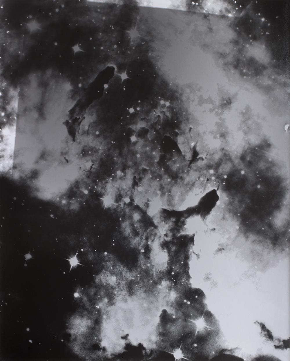 "Silver nebula , Gelatin silver print, 20x16"", 2016"