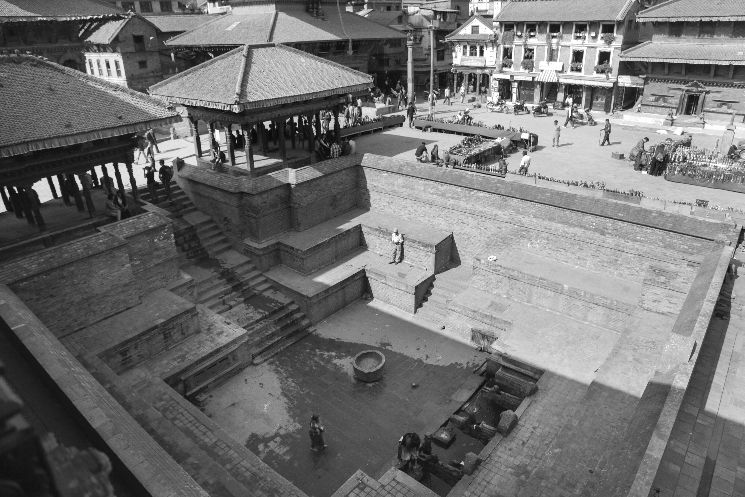 Mangaa H  iti,built around570 AD, at the Patan Durbar Square on Mangal Bazaar