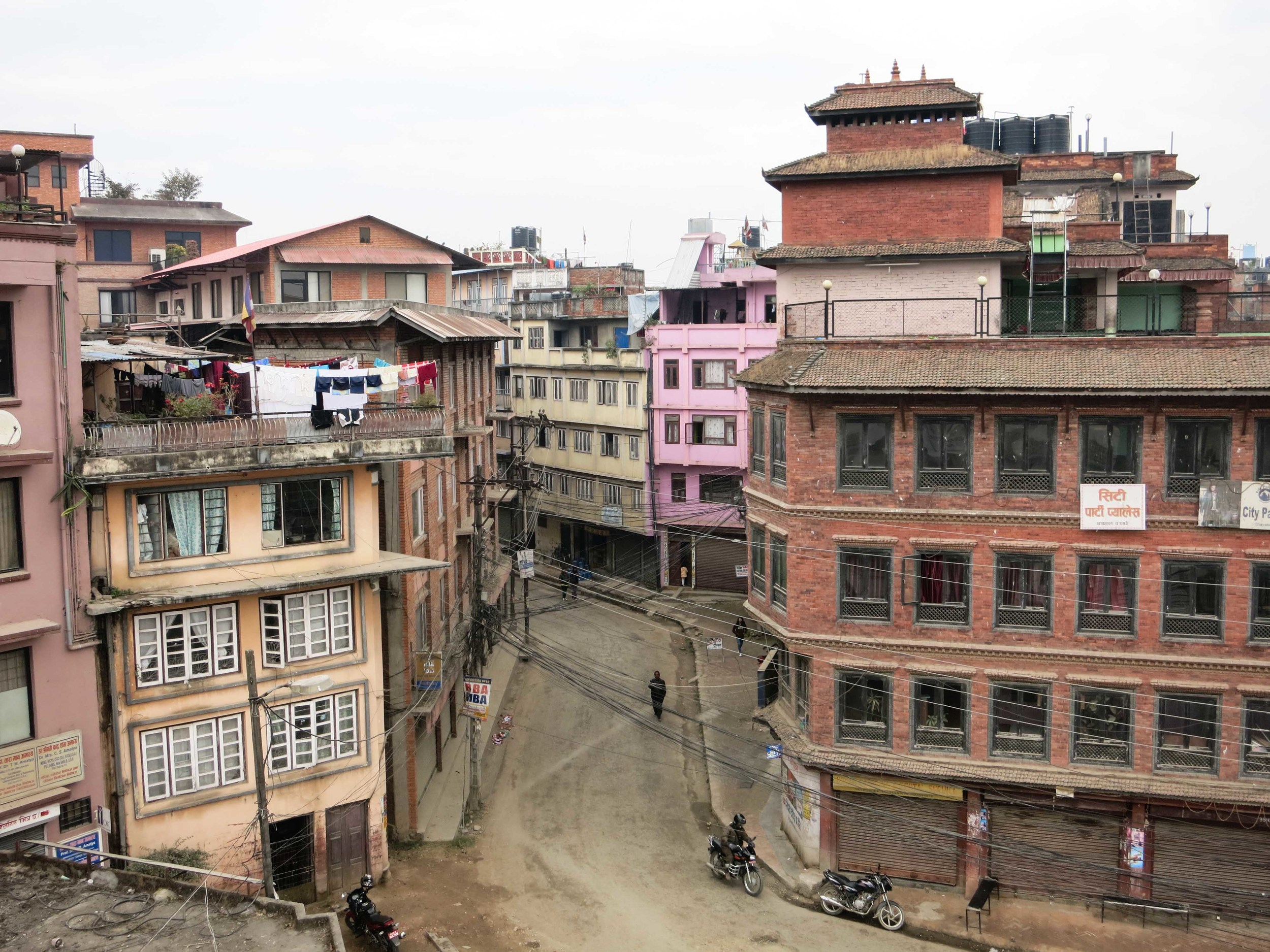 View from the to top of the   Lalitpur City   Office where the meeting room was.