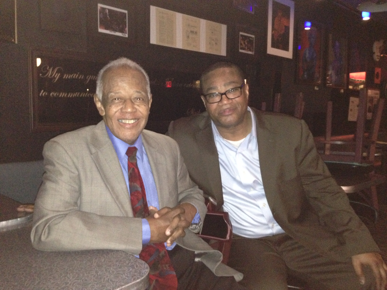 Uncle Slide Hampton and I after a show in NYC.