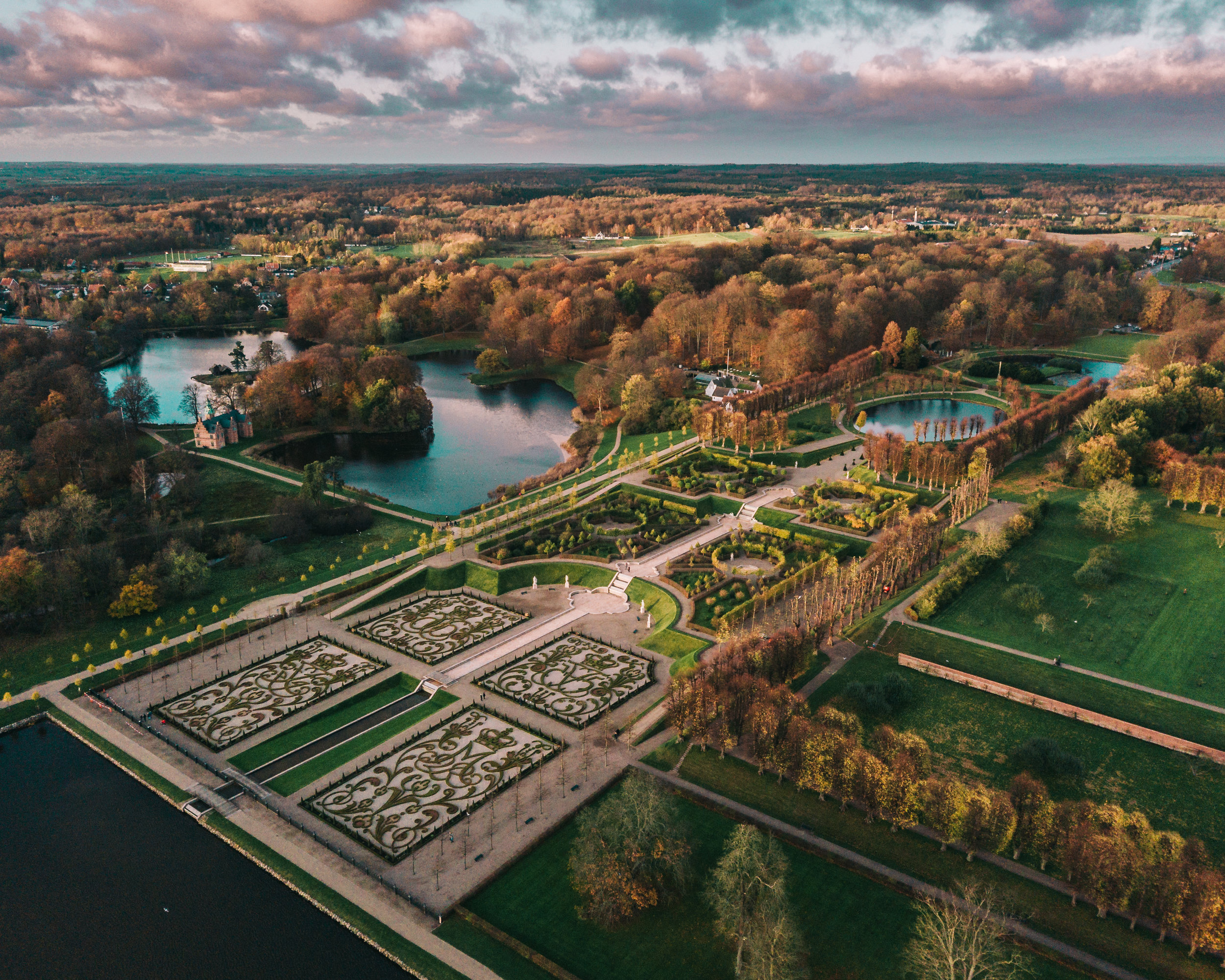 Aerial view of the garden.