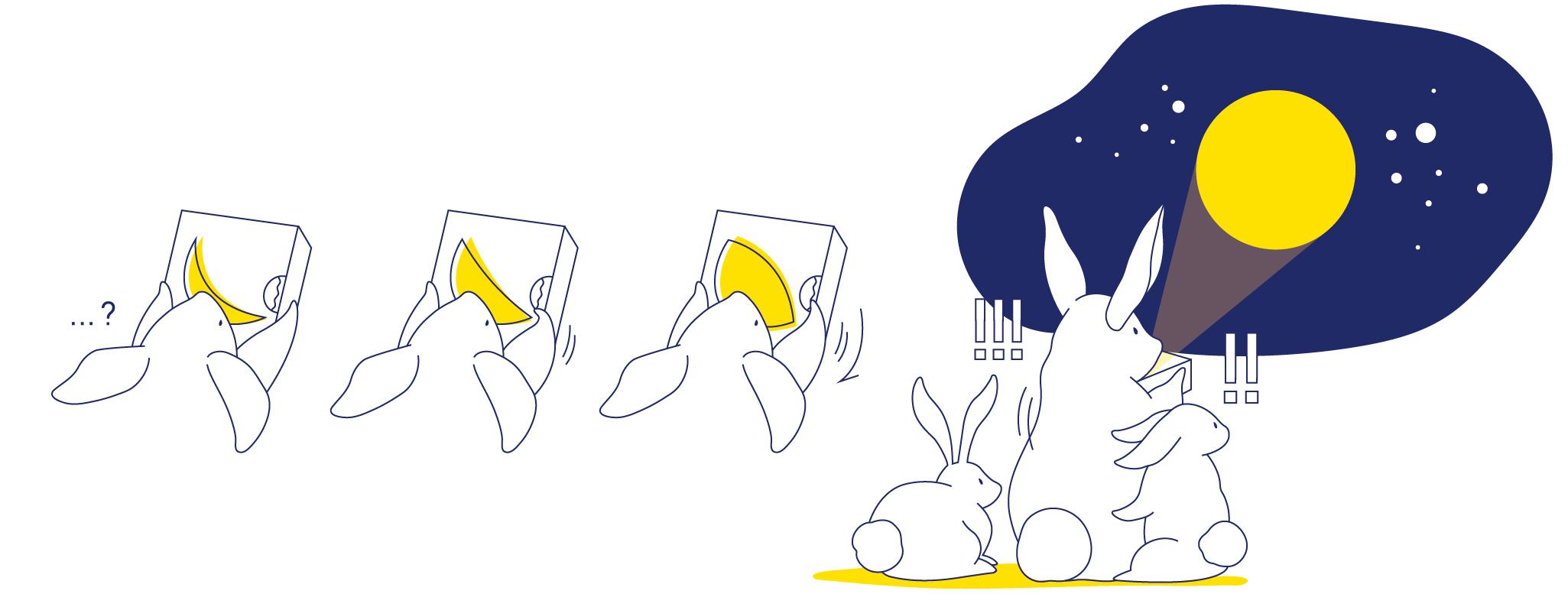 中秋滿月一直是人們歸鄉團聚的指引,如果一個盒子能讓你玩味月亮的陰晴圓缺,轉到滿月時候還會在天空透射出滿月光,那每天都是中秋節了。
