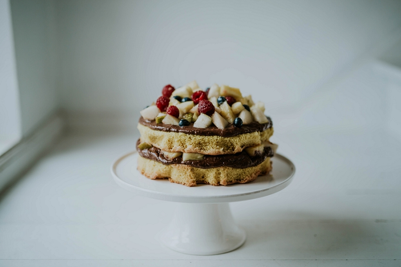 a delicious gluten and dairy free almond birthday cake
