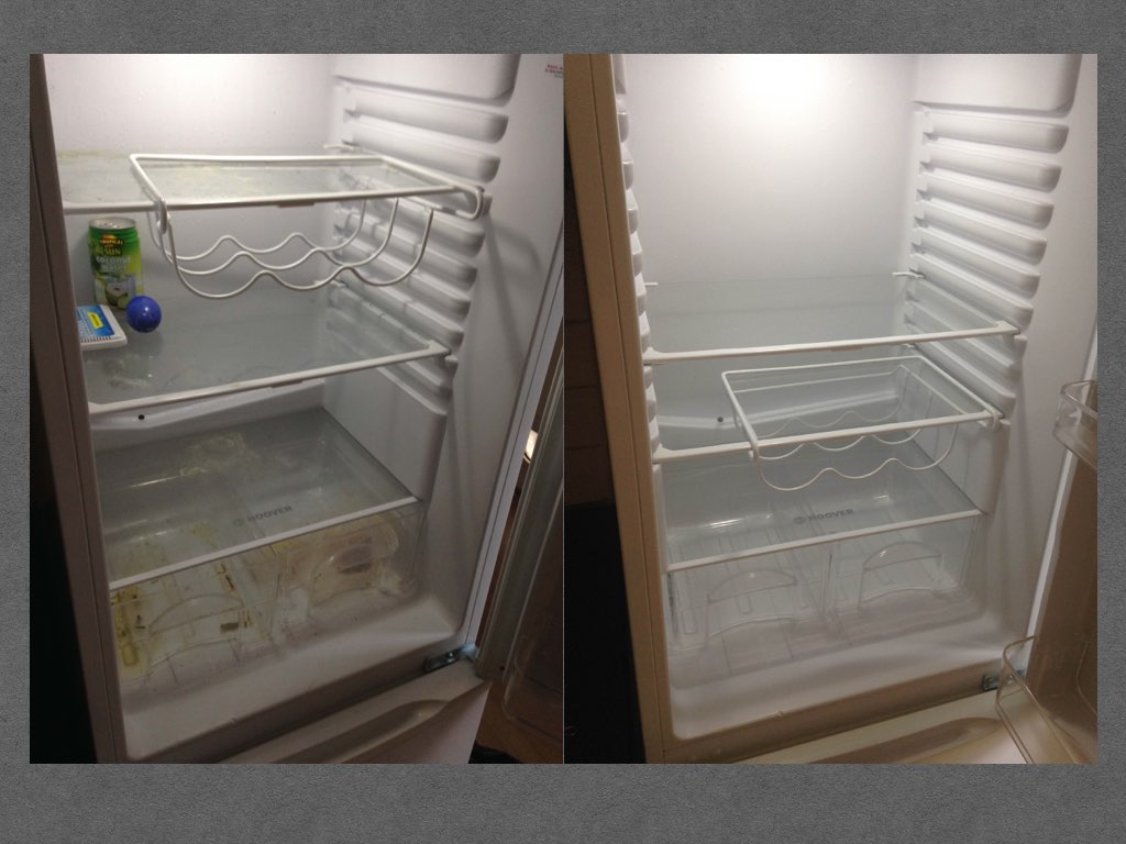 Fridge Cleaning DIFFERENCE