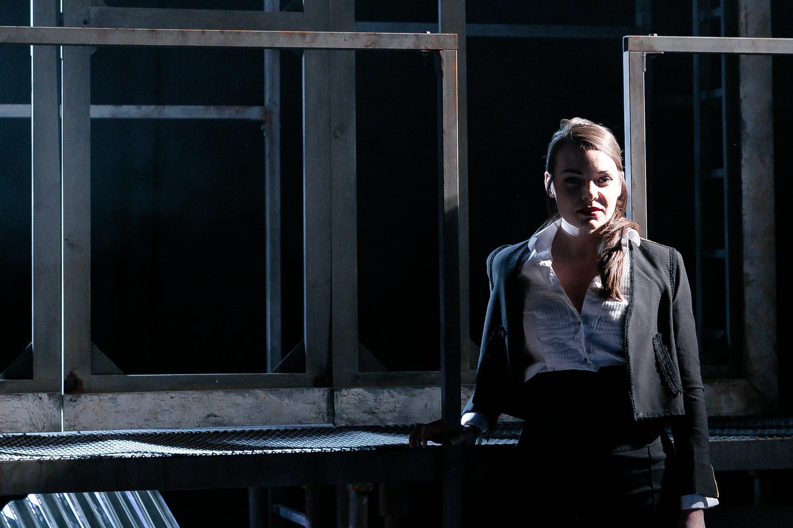 Carmen (OperaUpClose) Lilly Papaioannou (Carmen). Photo Andreas Greiger.