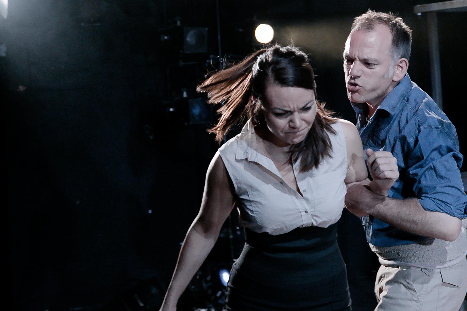Carmen (OperaUpClose) Lilly Papaioannou (Carmen), Michael Bracegirdle (Jose). Photo Andreas Greiger.