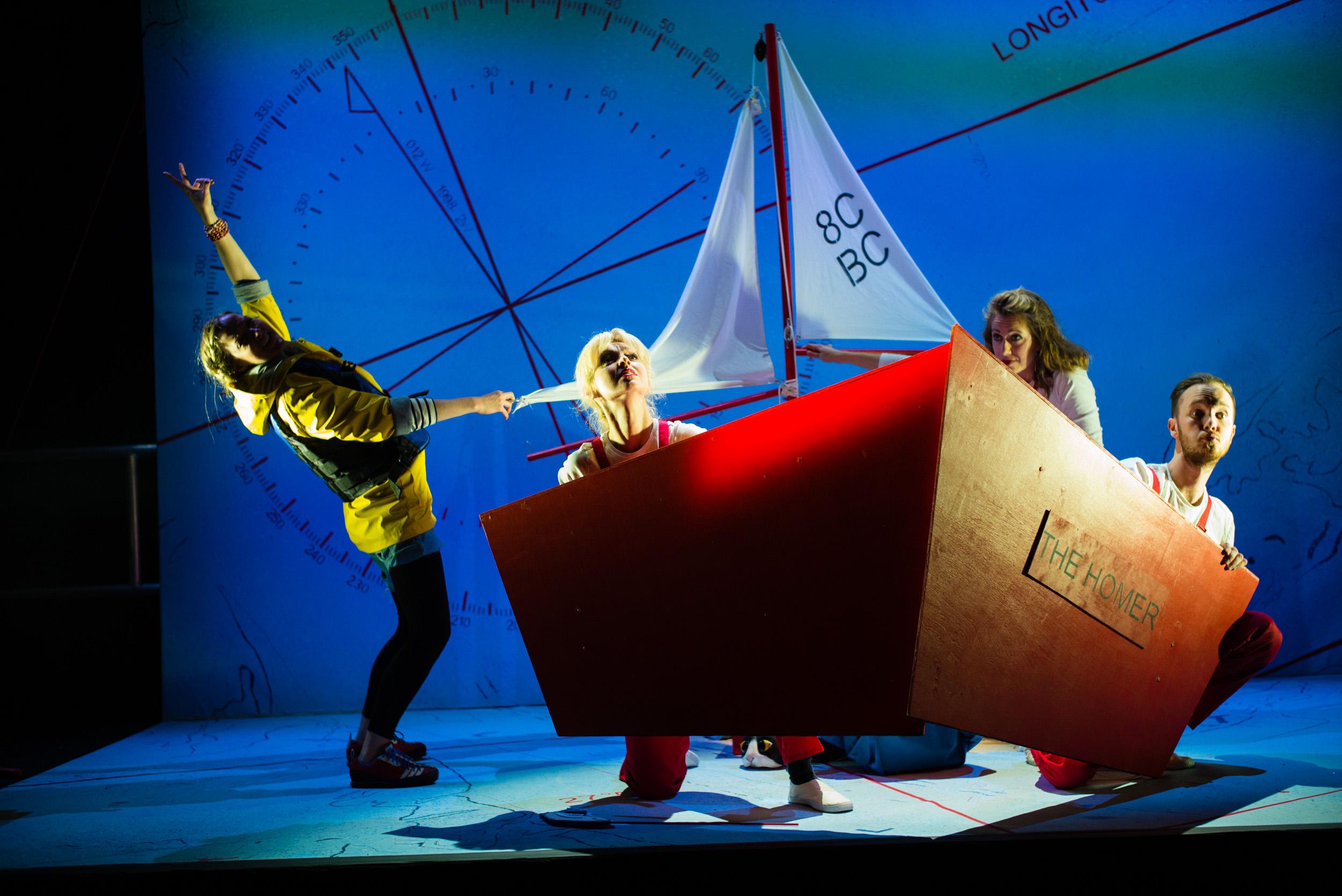 Ulla's Odyssey. OperaUpClose, Kings Place. Sarah Minns, Pamela Hay, Flora McIntosh & oskar McCarthy. Photo by Christopher Tribble.