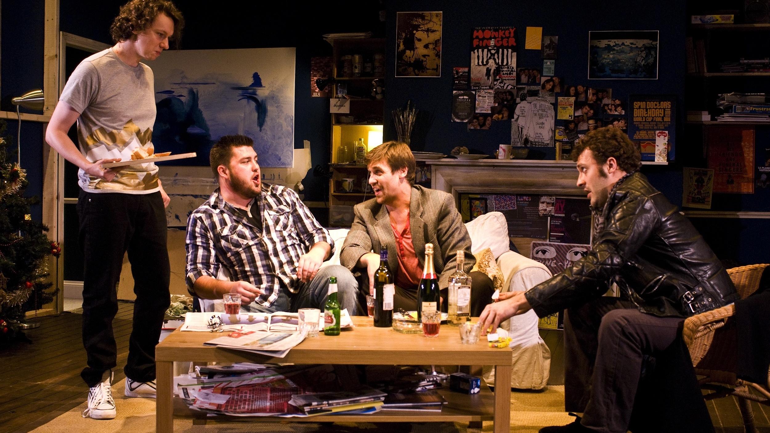 Marcin Kopec (Schaunard), Gareth Morris (Rodolfo), Dickon Gough (Colline), Michael Davis (Marcello).jpg