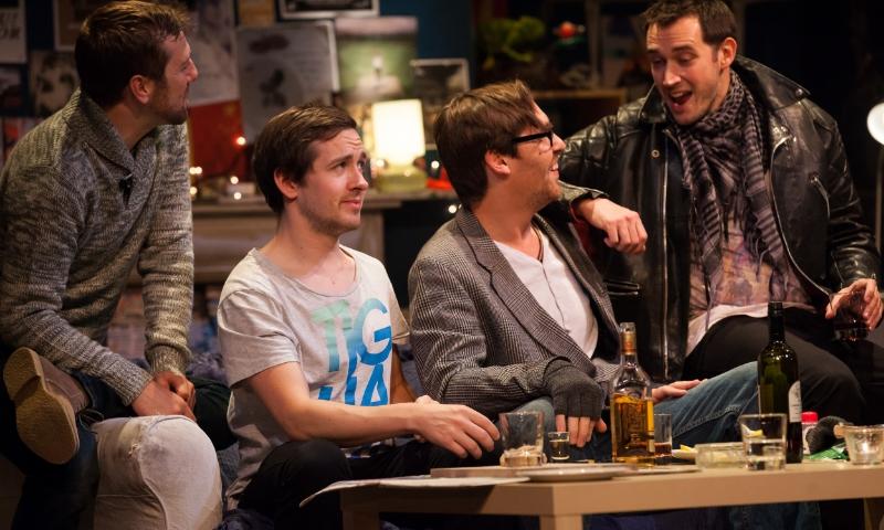 La Boheme (OperaUpClose)Philip Lee, Alistair Sutherland, Dickon Gough, Tom Bullard - Photo by Chris Tribble.jpg