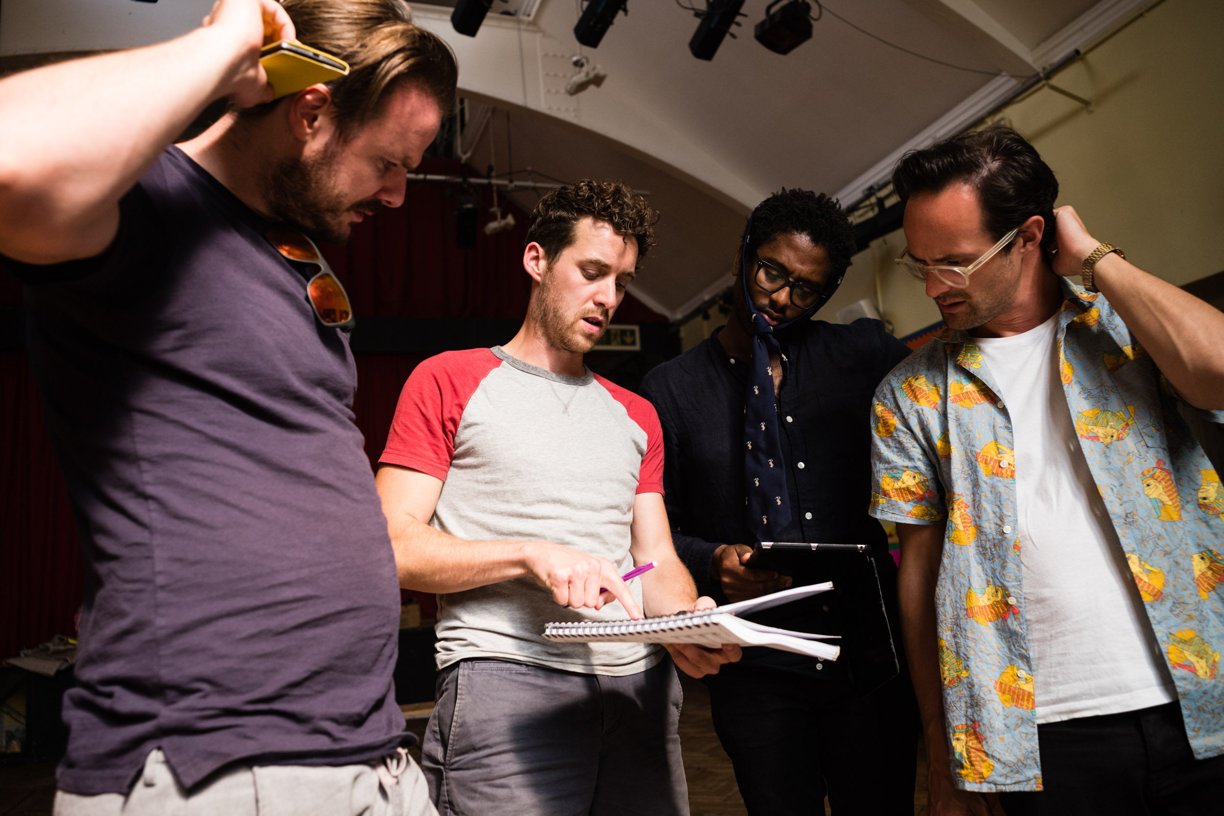 From Left: Tom Stoddart (Papageno), David Keefe (Musical Director), Peter Brathwaite (Papageno), Lawrence Olsworth-Peter (Tamino)